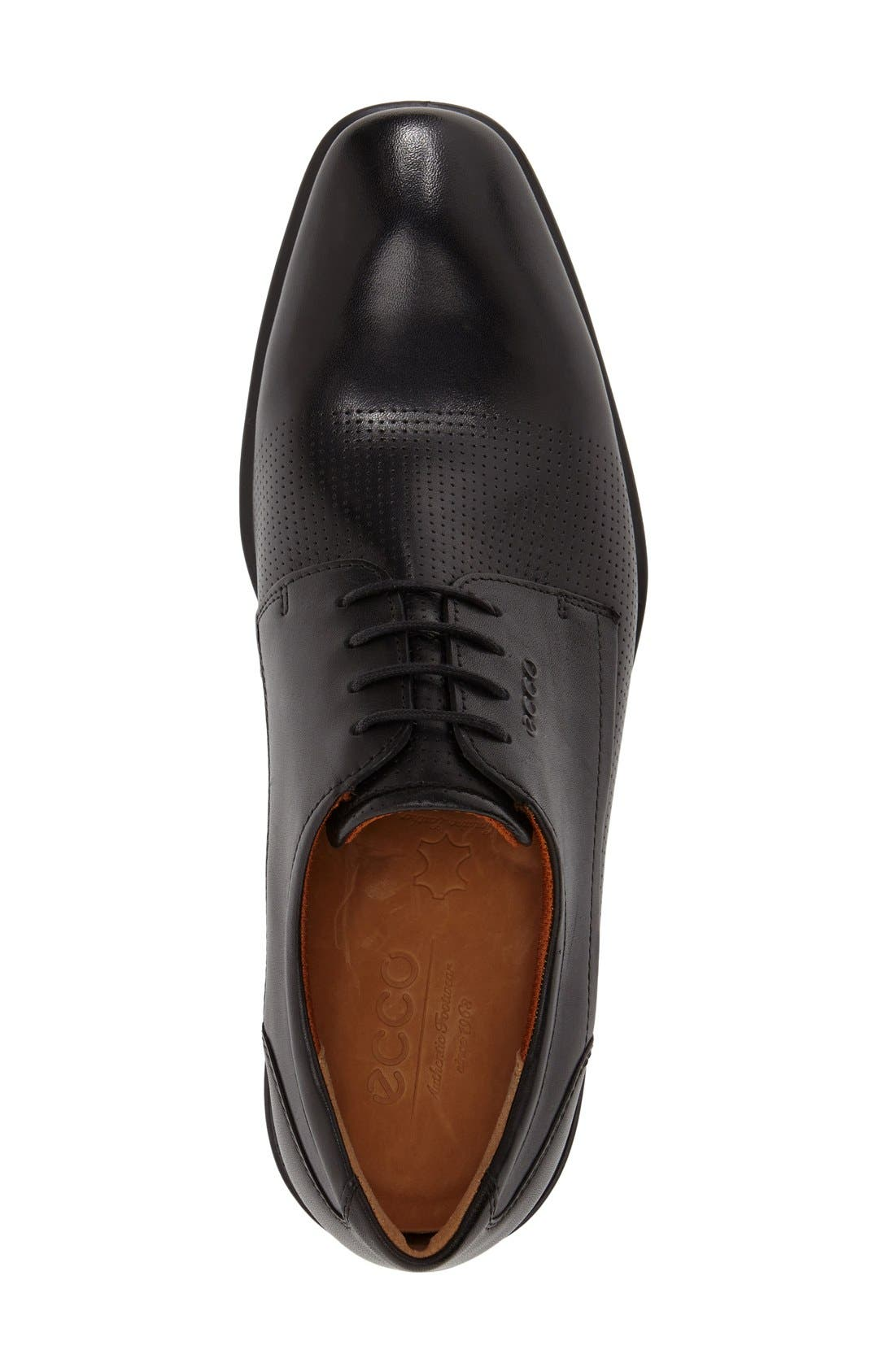 'Cairo' Perforated Plain Toe Derby,                             Alternate thumbnail 3, color,                             001