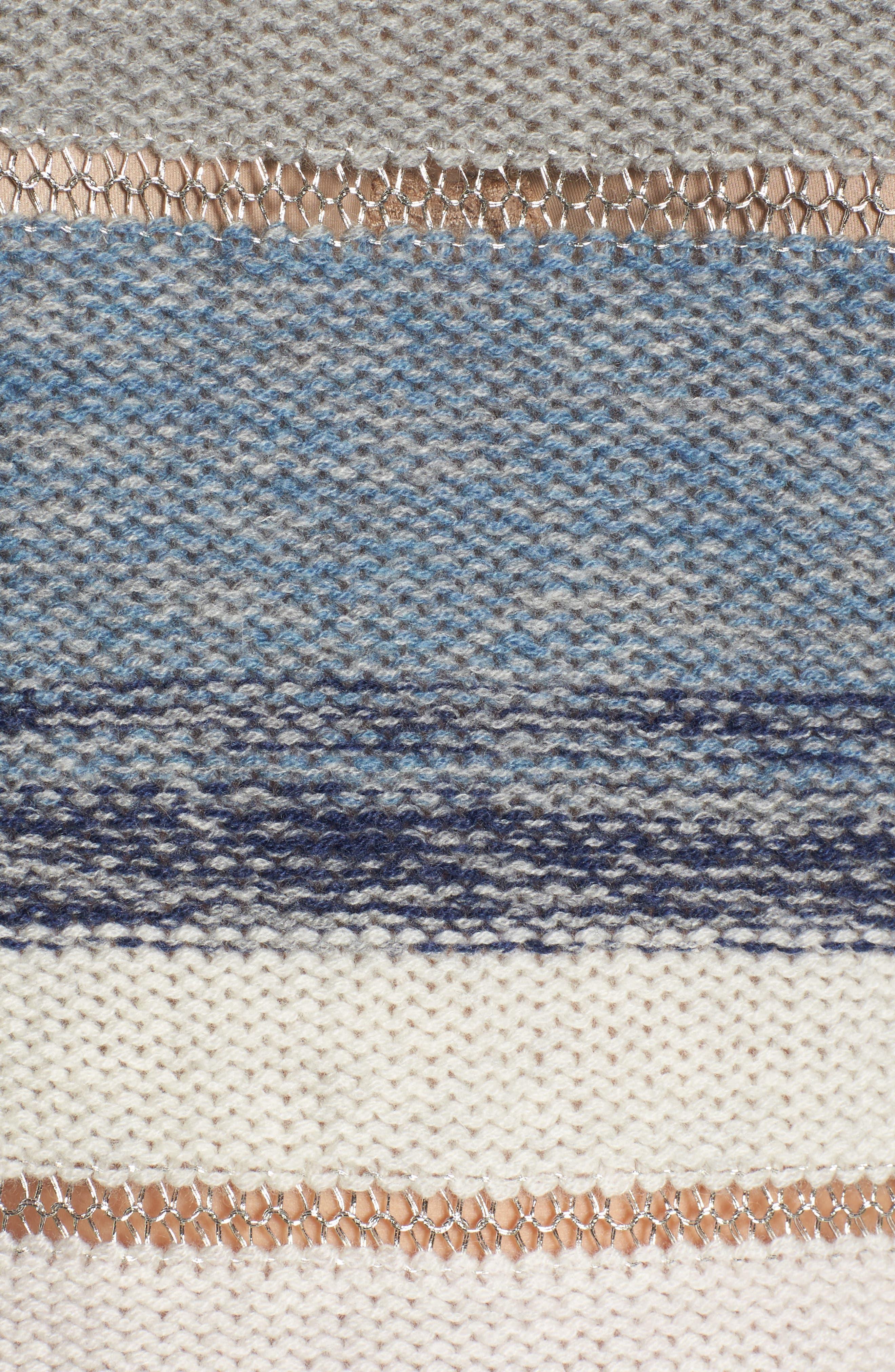 Daphne Stripe Wool & Cashmere Sweater,                             Alternate thumbnail 5, color,                             404