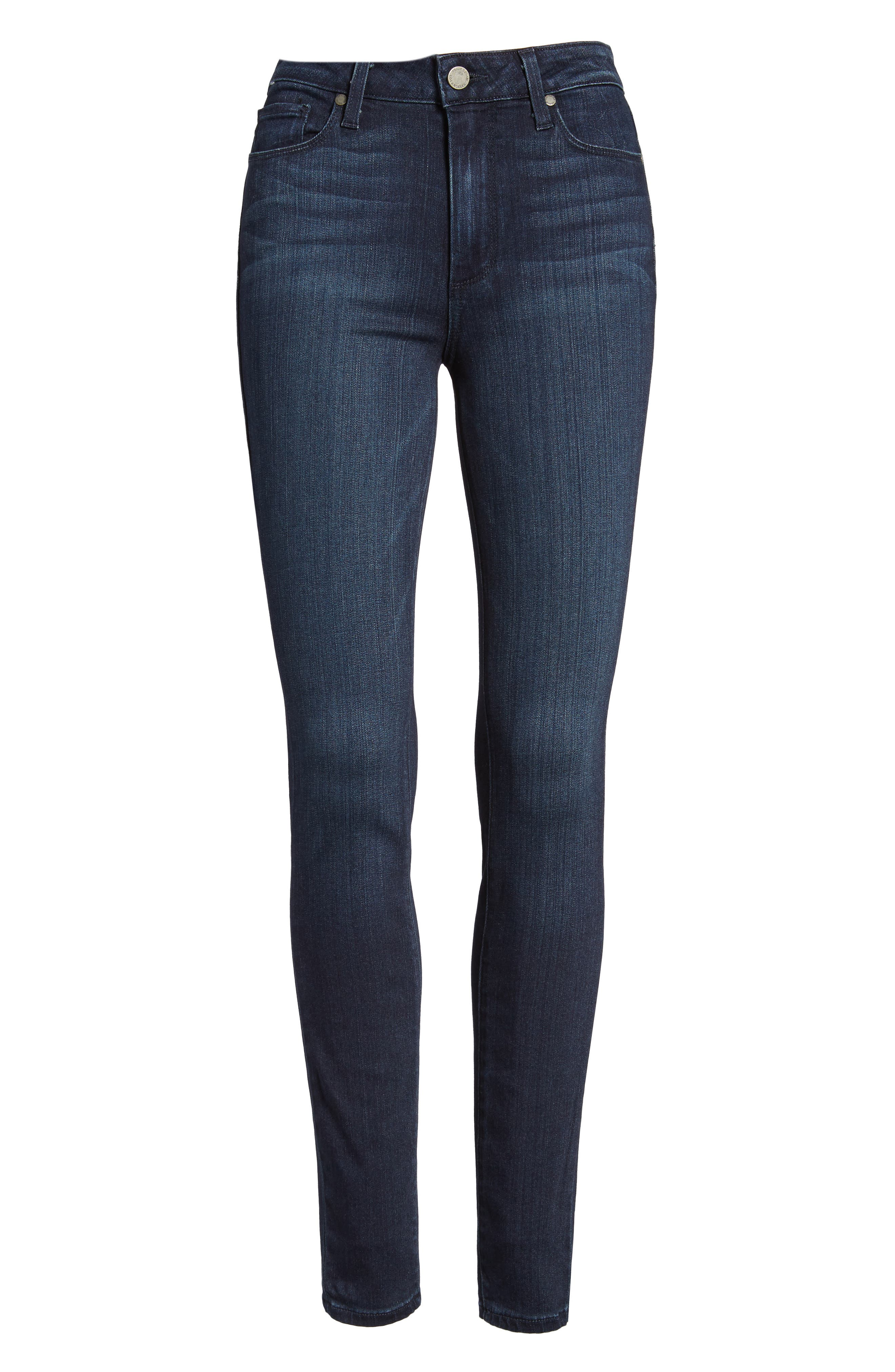 Transcend - Hoxton High Waist Ultra Skinny Jeans,                             Alternate thumbnail 7, color,                             400