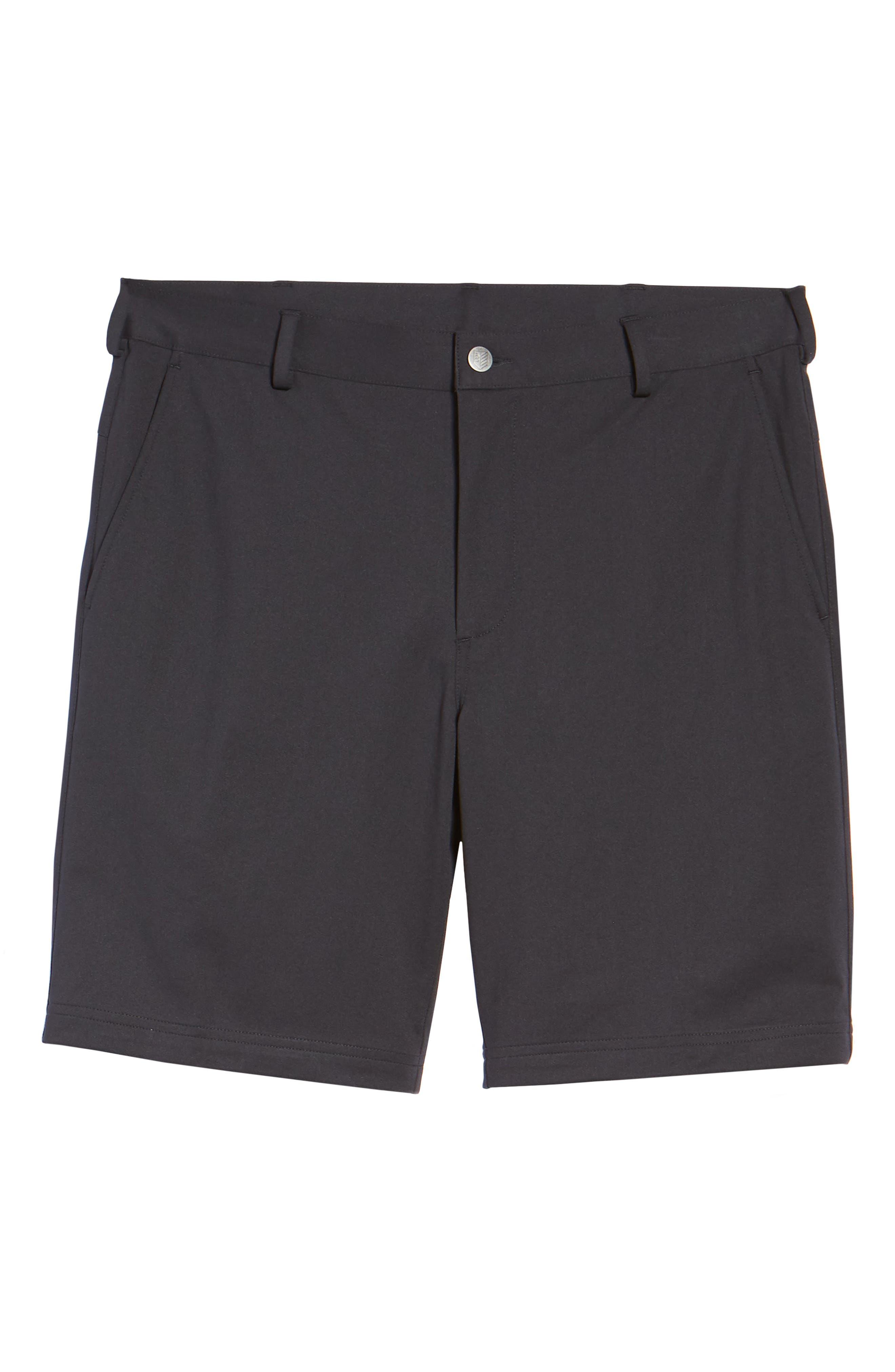 BOBBY JONES,                             Trim Fit Tech Chino Shorts,                             Alternate thumbnail 6, color,                             001