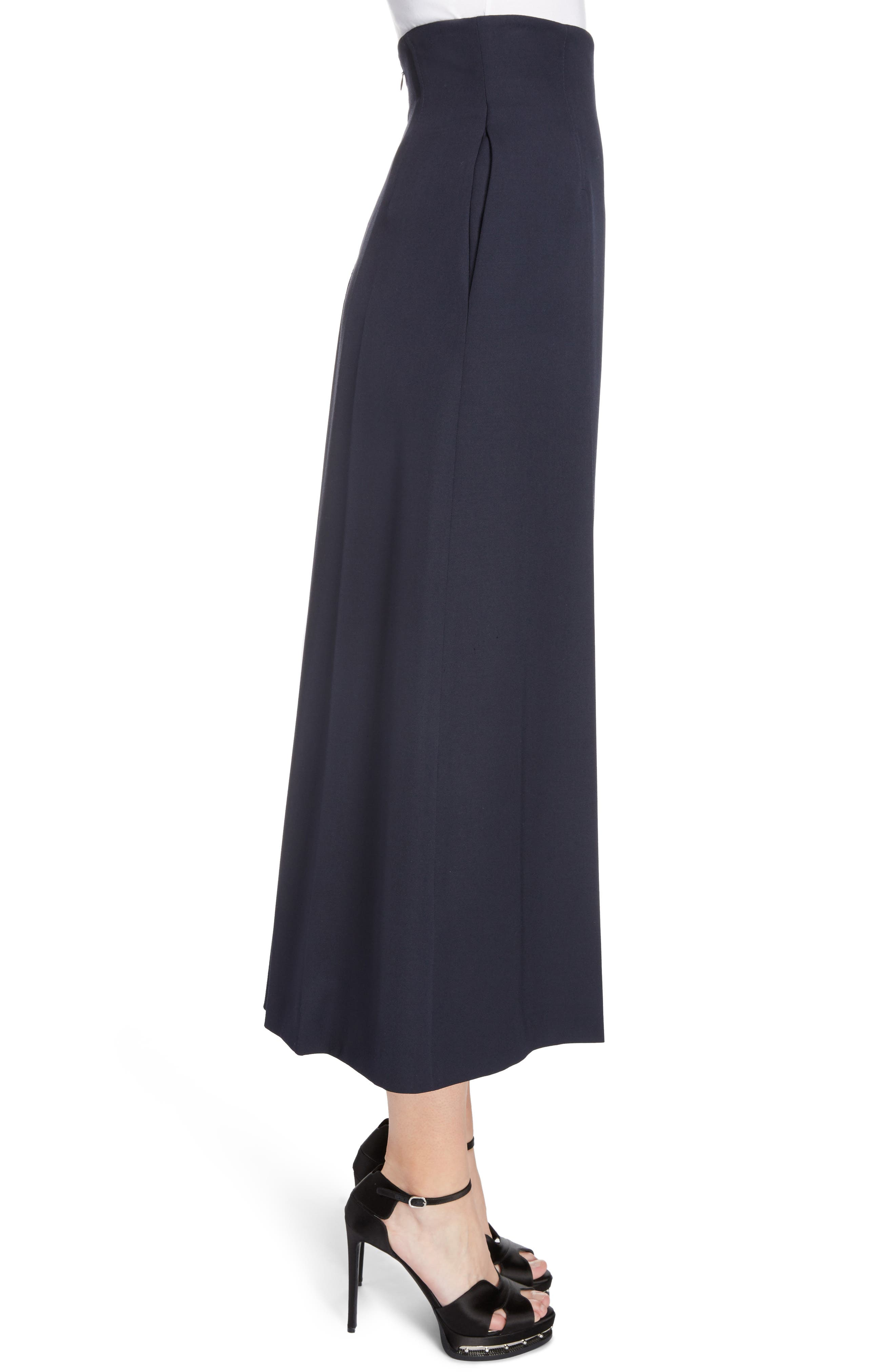 Wool Culottes,                             Alternate thumbnail 3, color,