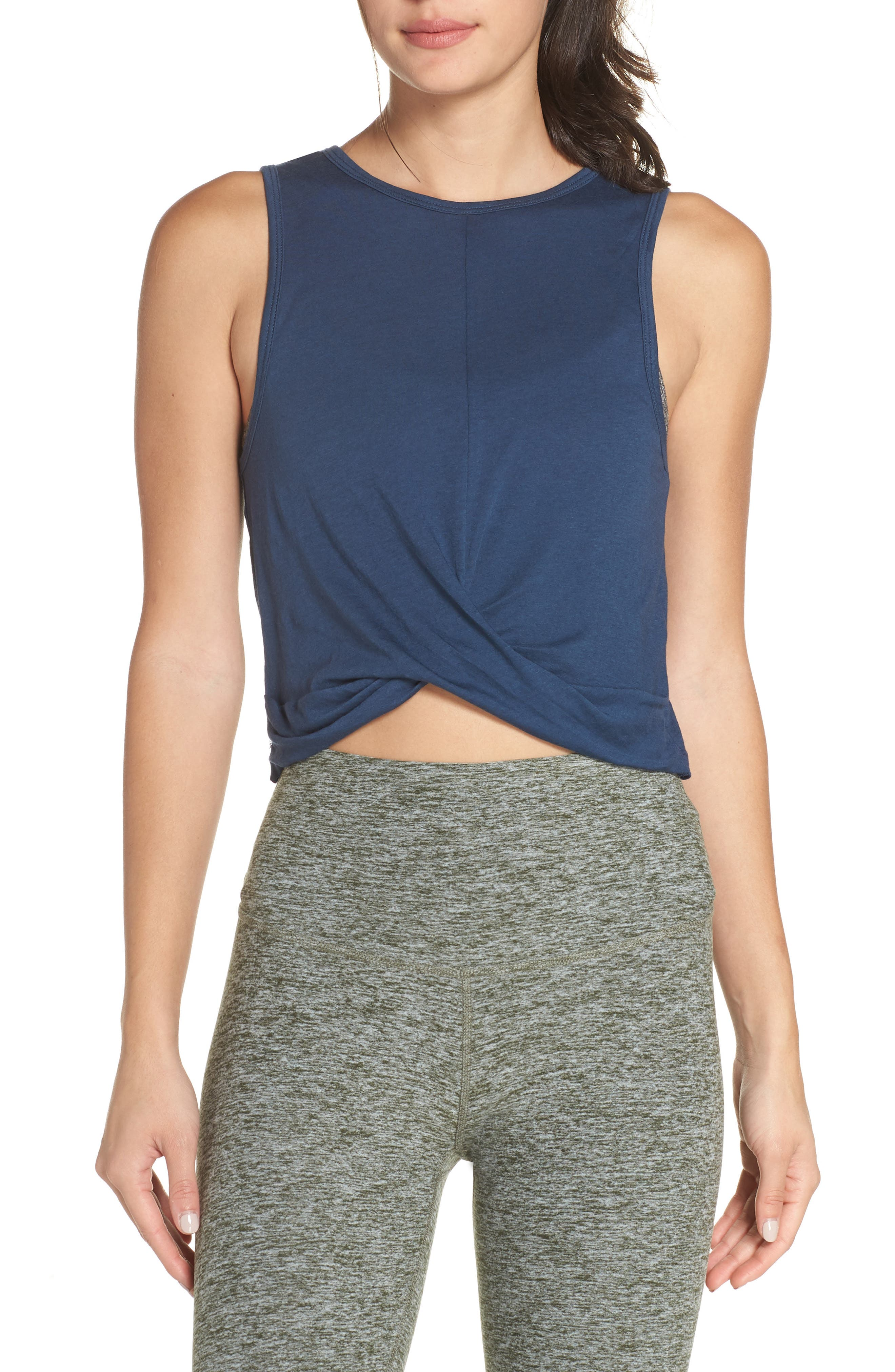 Crossroads Crop Tank,                         Main,                         color, OUTLAW NAVY