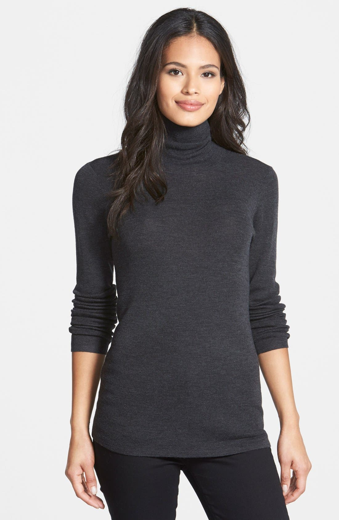 The Fisher Project Ultrafine Merino Turtleneck Sweater,                             Main thumbnail 4, color,