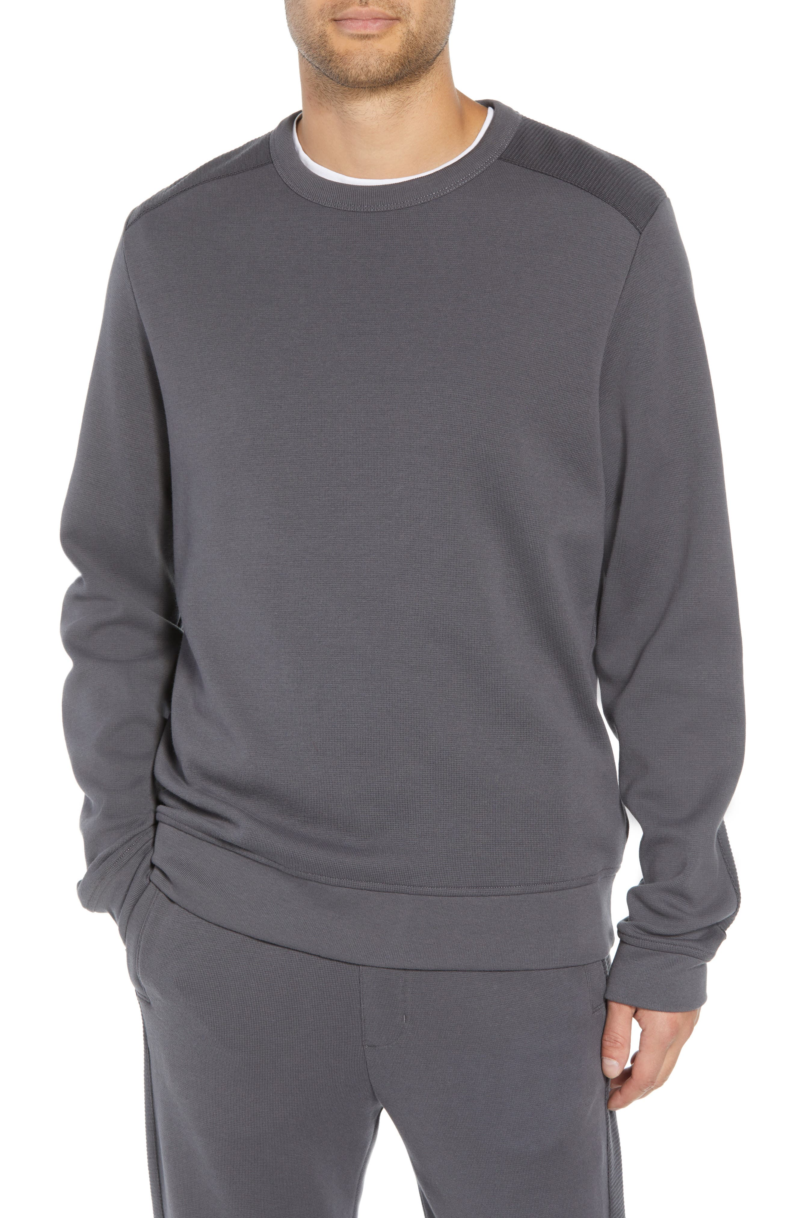 Ottoman Stitch Sweatshirt,                         Main,                         color, SLATE