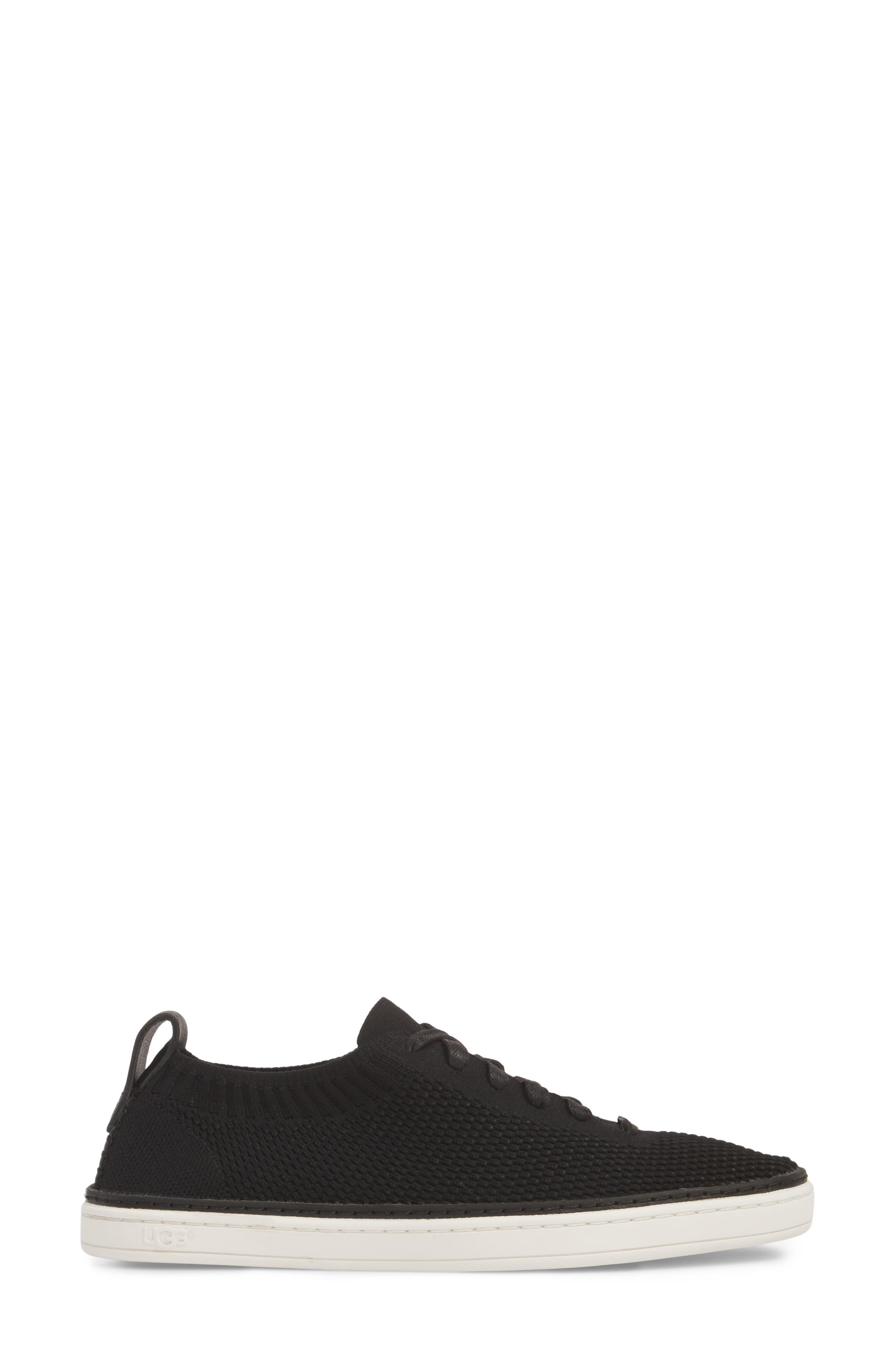 Sidney Sneaker,                             Alternate thumbnail 3, color,                             BLACK FABRIC