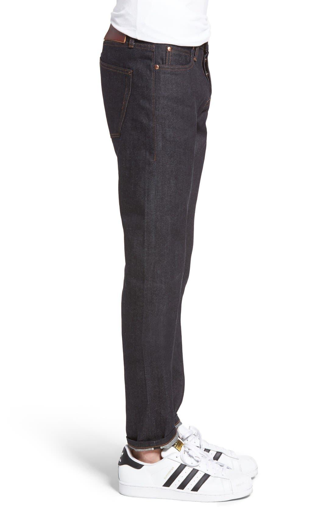 UB422 Selvedge Skinny Fit Jeans,                             Alternate thumbnail 3, color,                             401