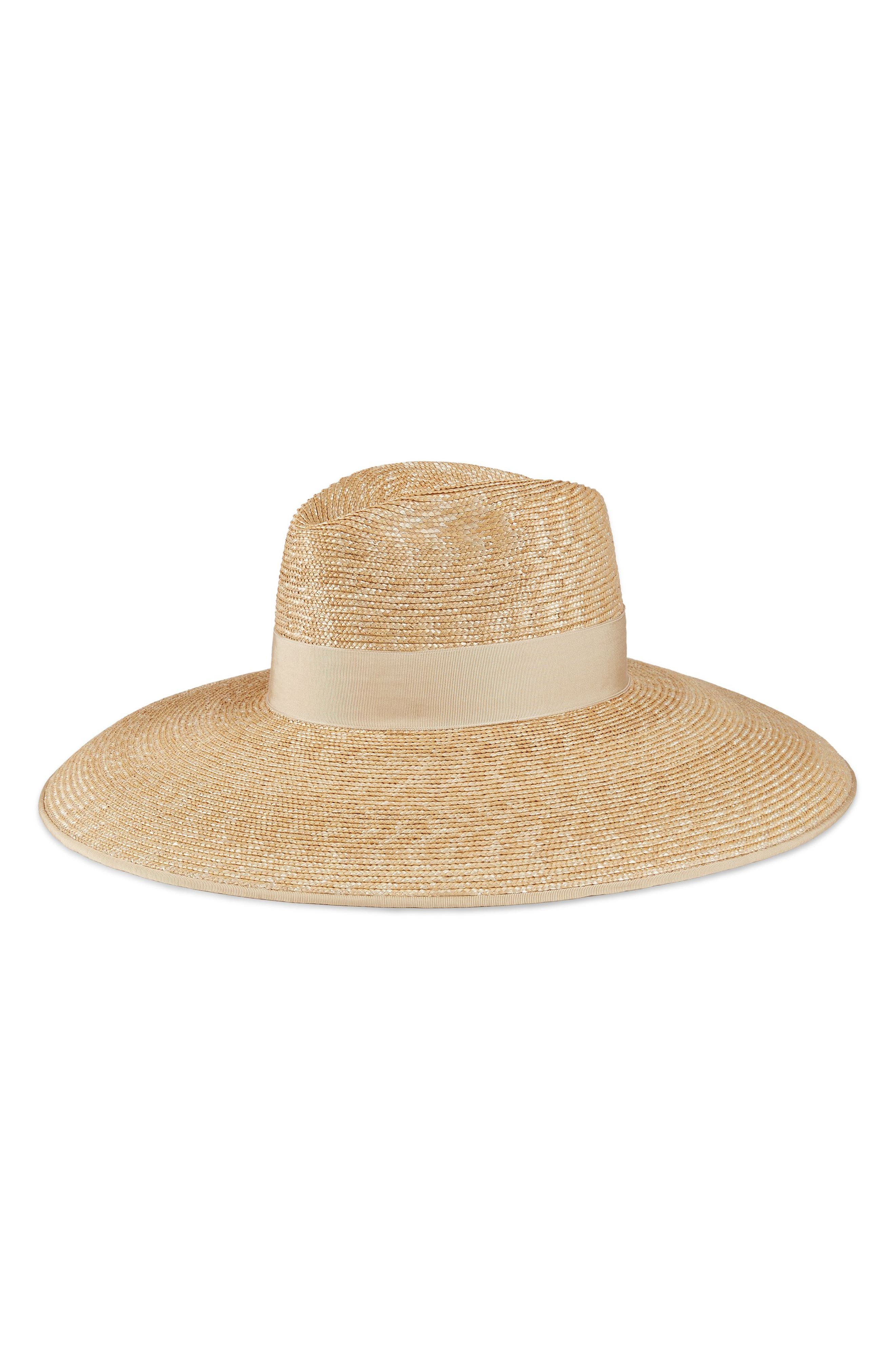 Crystal Embellished Wide Brim Straw Hat,                             Alternate thumbnail 2, color,                             110
