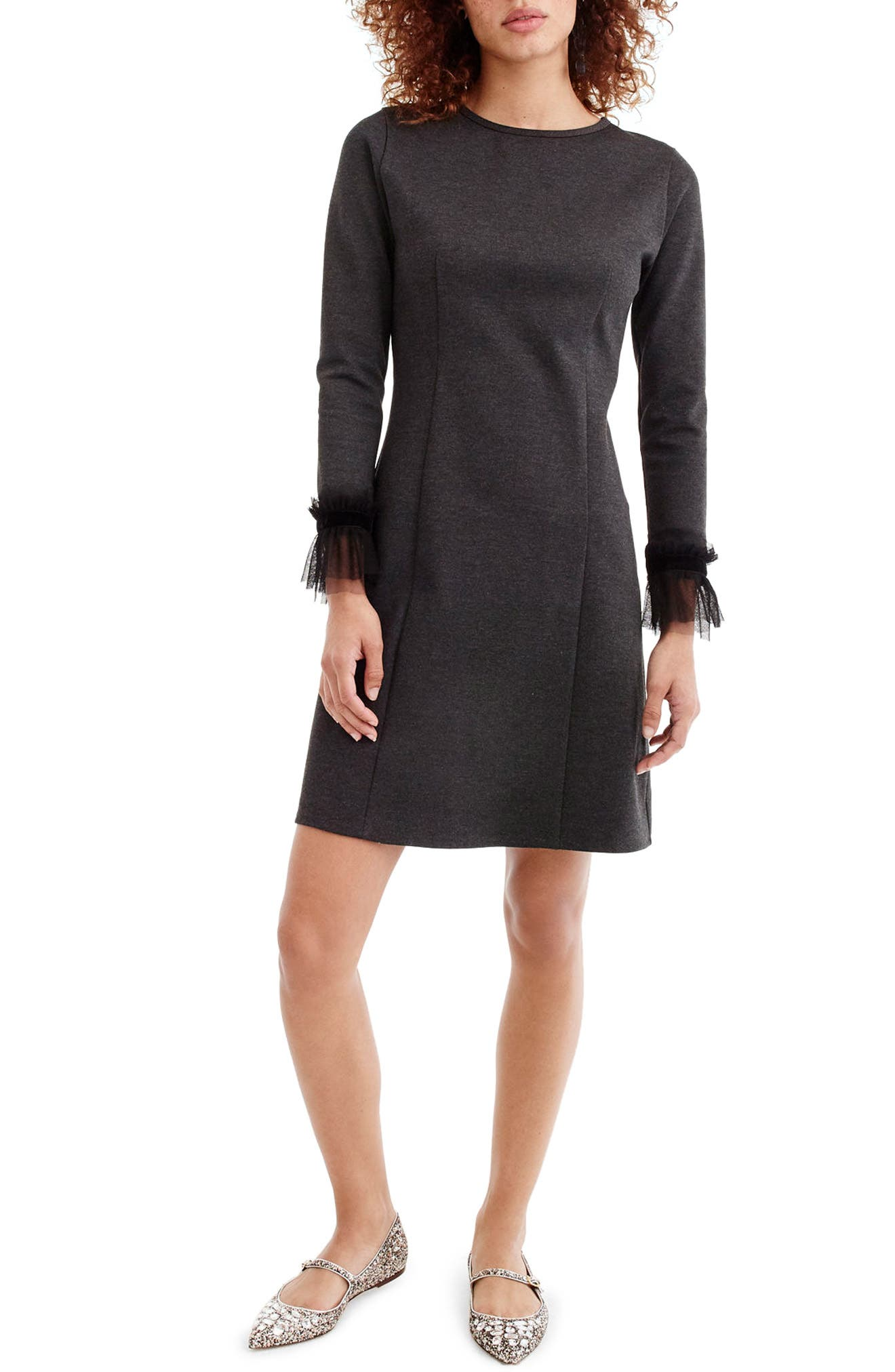 Storm Ponte Knit Dress,                             Main thumbnail 1, color,                             001