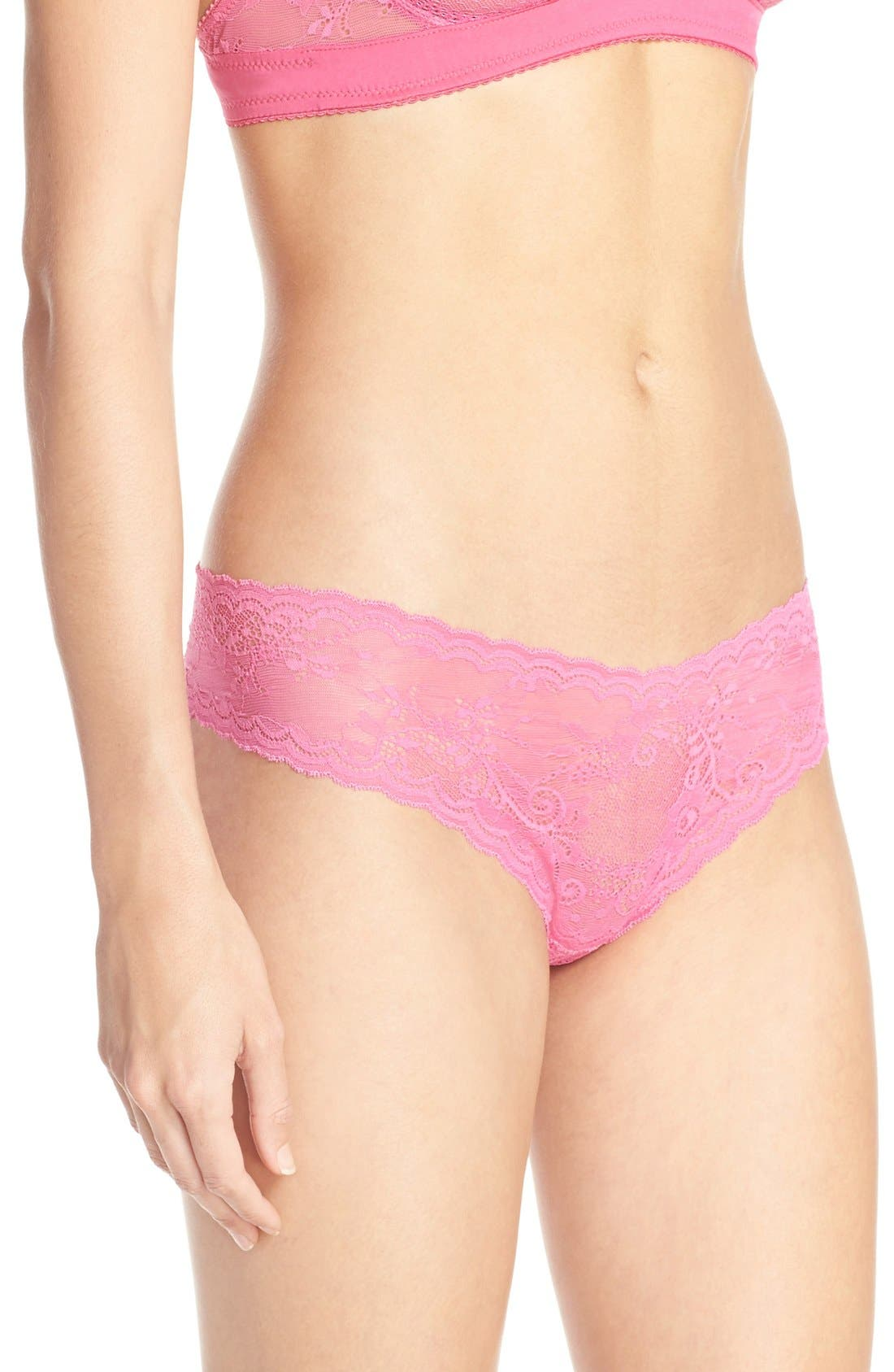 'Trenta' Low Rise Lace Thong,                             Alternate thumbnail 161, color,