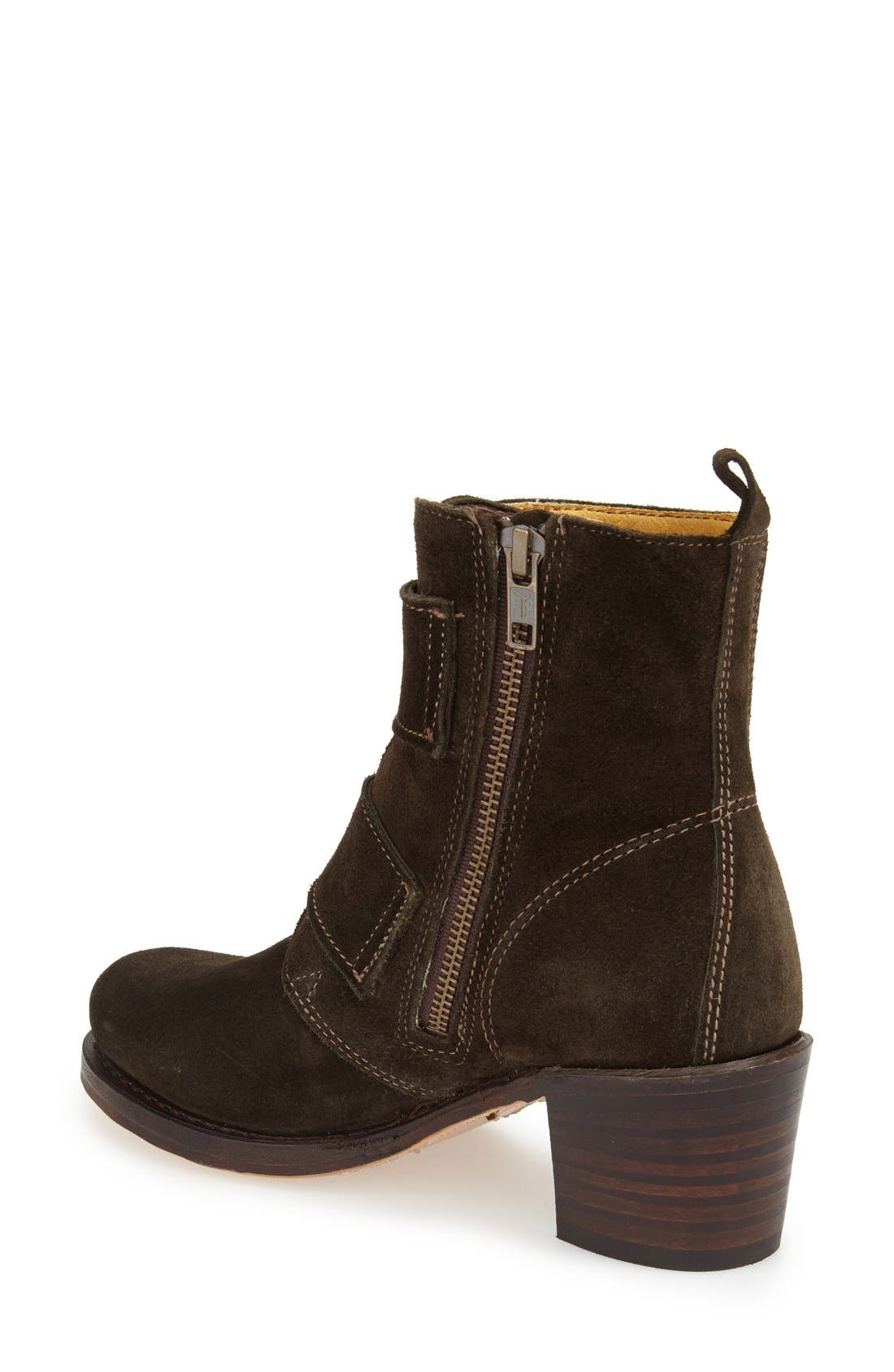 'Sabrina' Double Buckle Boot,                             Alternate thumbnail 8, color,