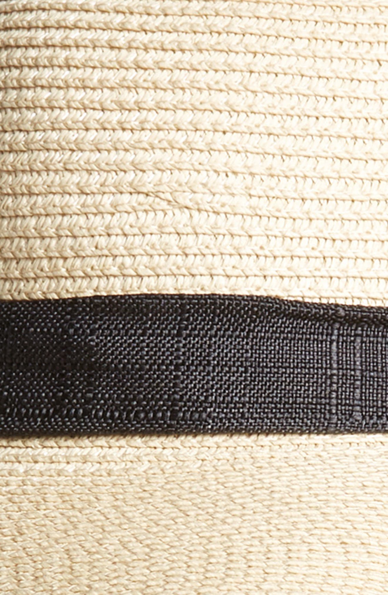 Tie Neck Ribbon Floppy Straw Hat,                             Alternate thumbnail 2, color,                             001