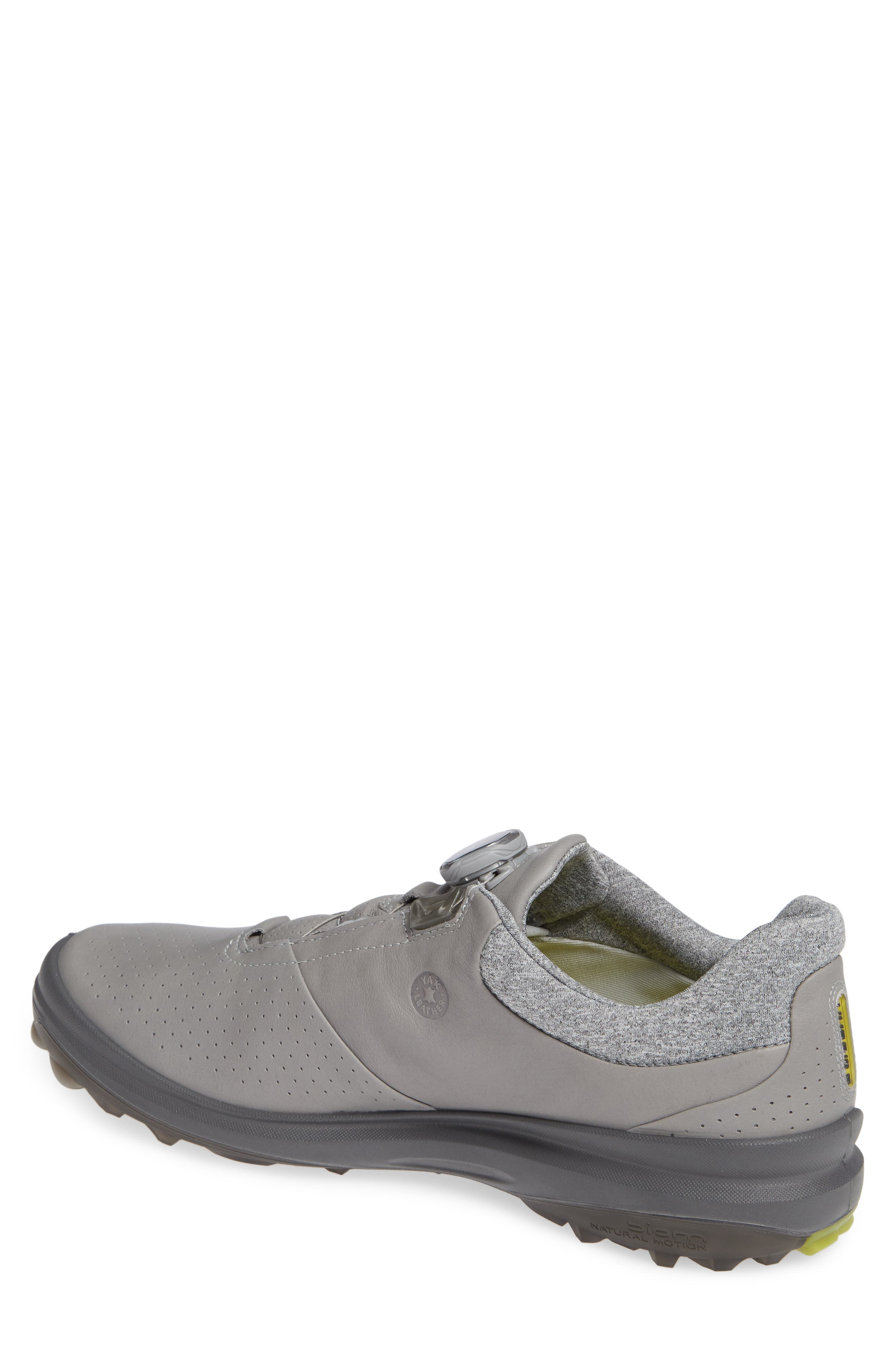 ECCO,                             BIOM Hybrid 3 Gore-Tex<sup>®</sup> Golf Shoe,                             Alternate thumbnail 2, color,                             WILD DOVE/ KIWI LEATHER