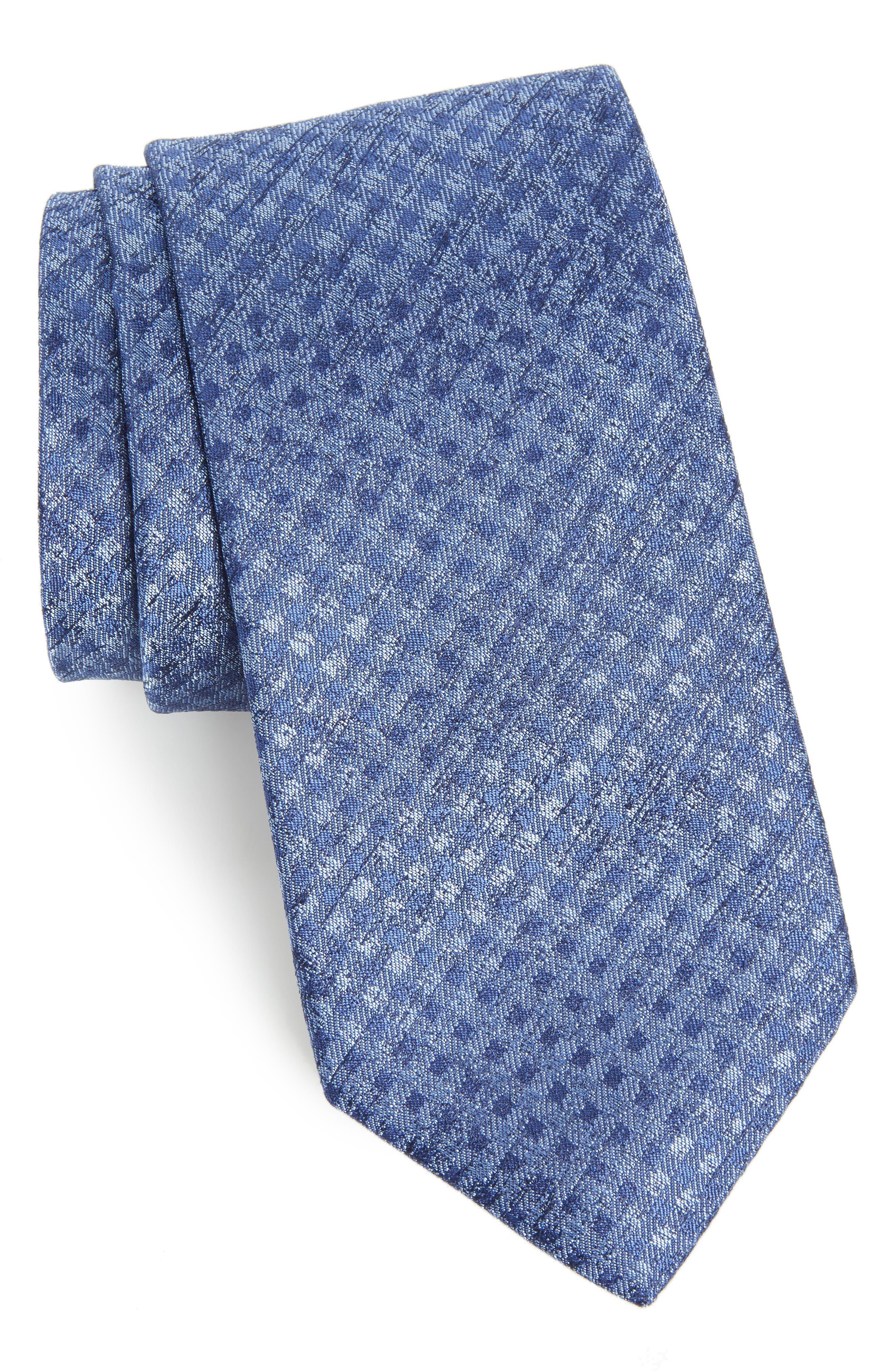 Porter Check Silk Tie,                         Main,                         color, 400