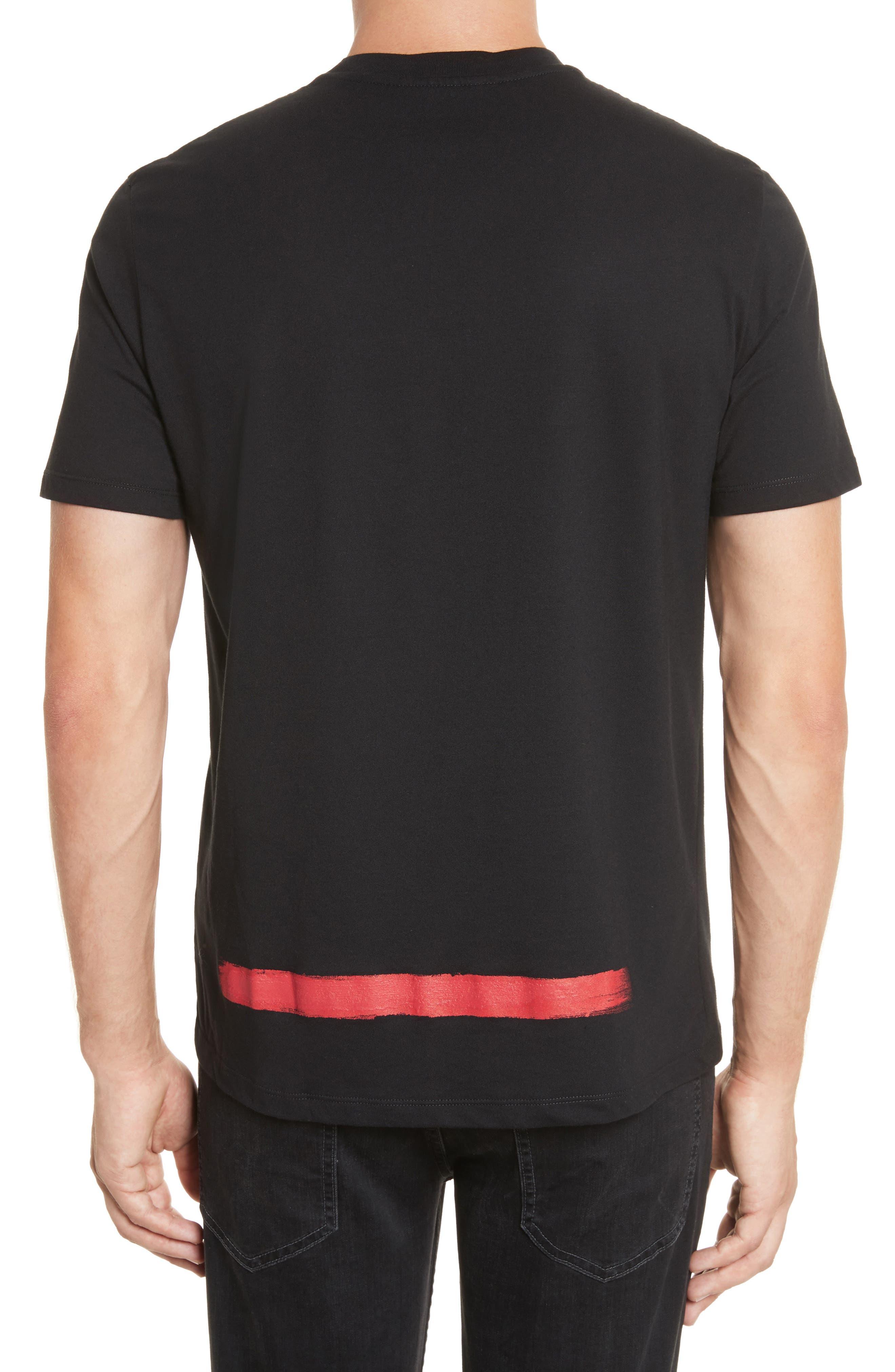 Brush Stroke Graphic T-Shirt,                             Alternate thumbnail 2, color,                             001