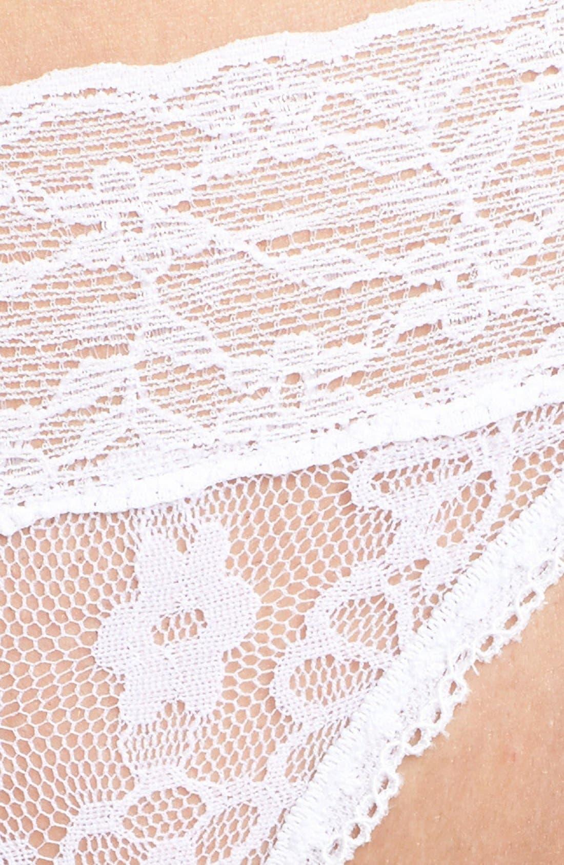 Lace Waist Thong,                             Alternate thumbnail 21, color,