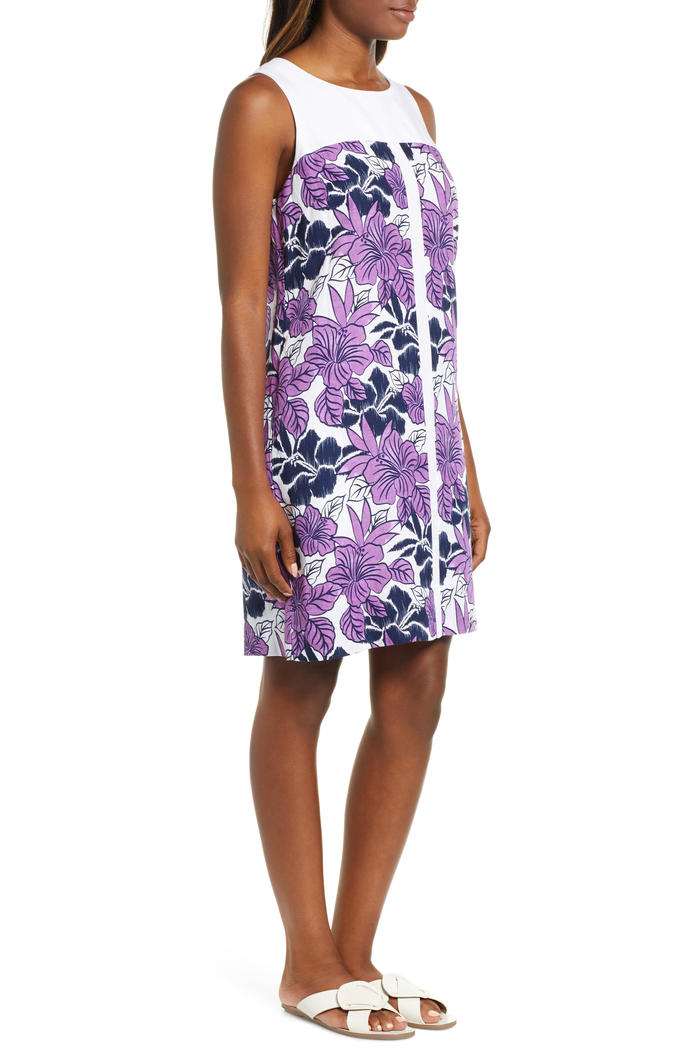 Blissful Blooms Shift Dress,                             Alternate thumbnail 3, color,                             VIVID PURPLE