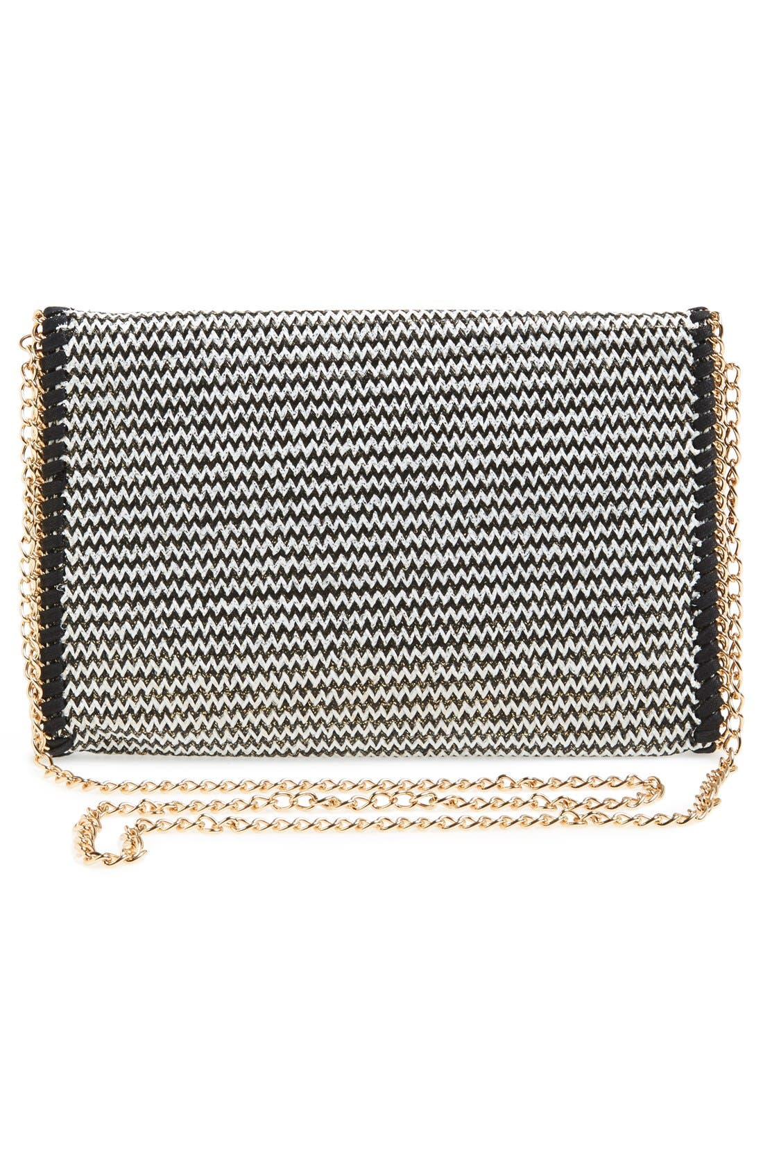 PHASE 3,                             'Zigzag' Chain Clutch,                             Alternate thumbnail 3, color,                             001