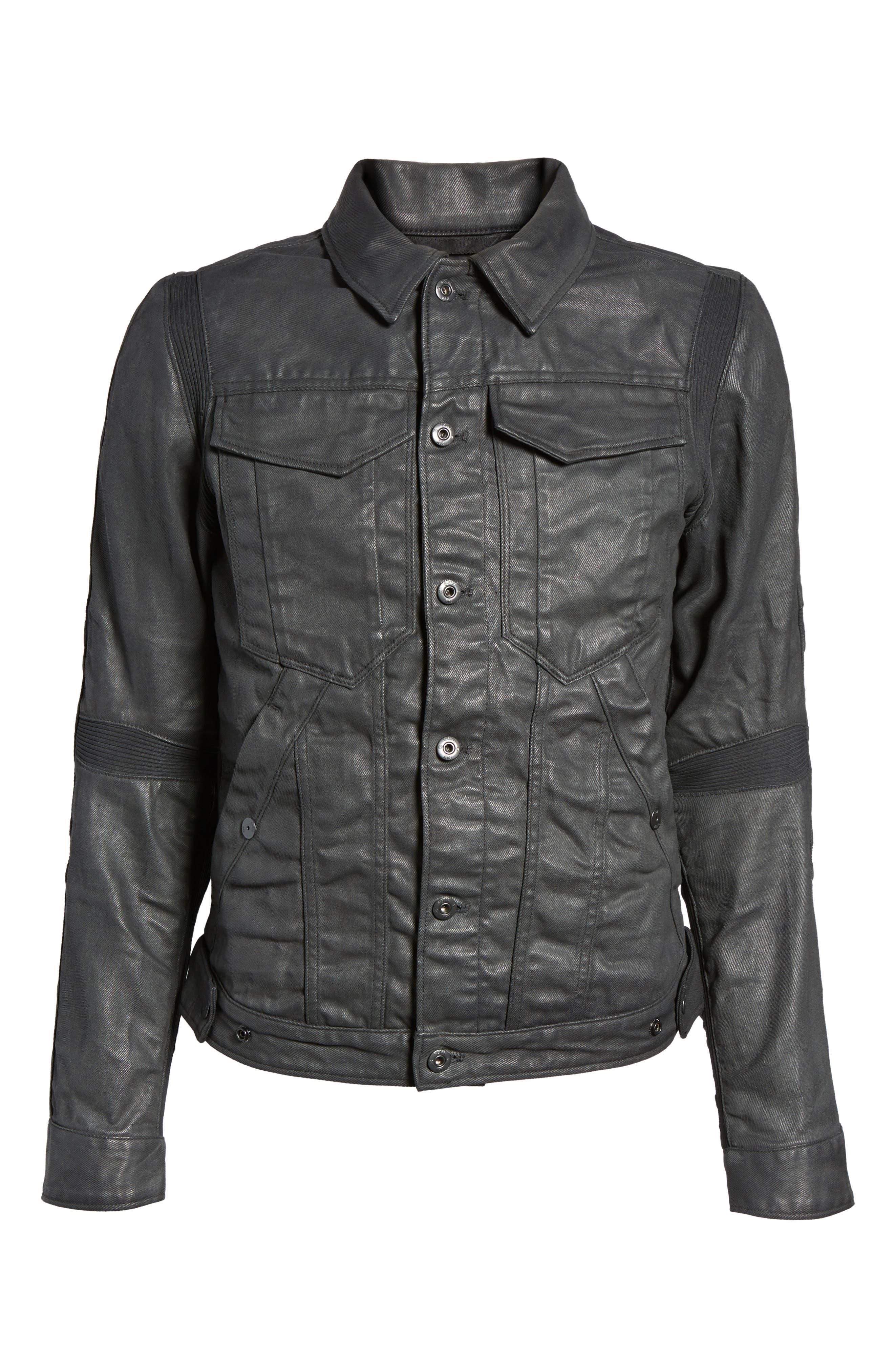 Motac 3D Slim Denim Jacket,                             Alternate thumbnail 5, color,                             001