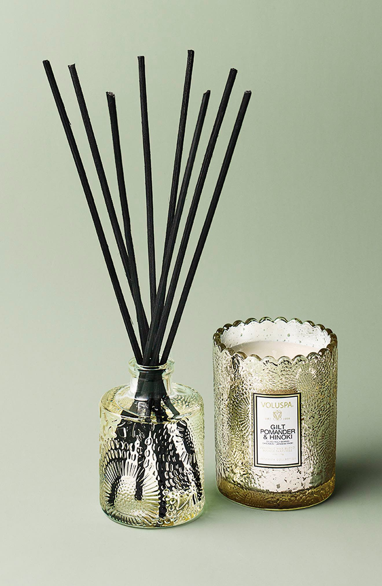 Gilt Pomander & Hinoki Ambience Diffuser,                             Alternate thumbnail 2, color,                             000