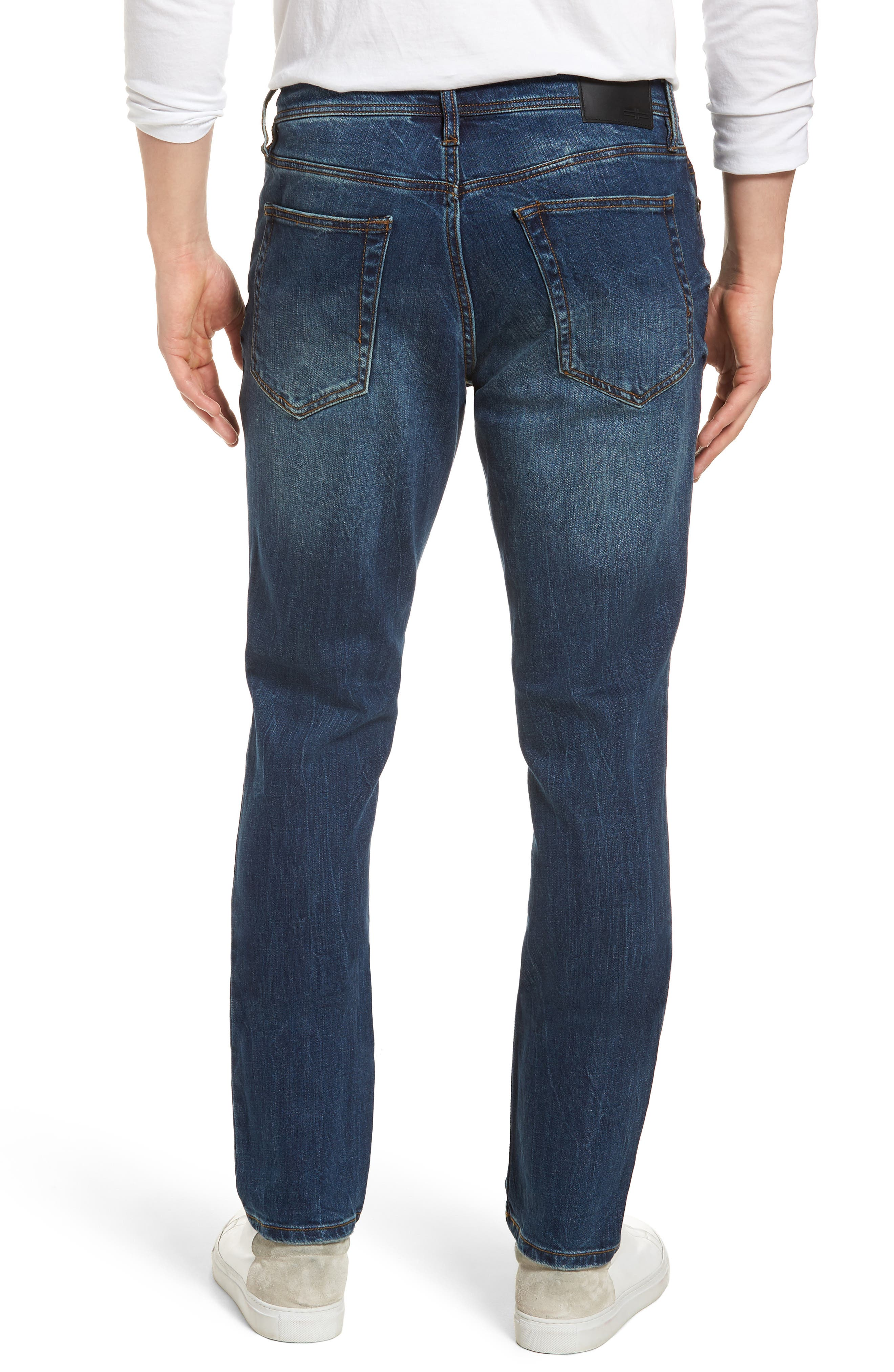 Jeans Co. Kingston Slim Straight Leg Jeans,                             Alternate thumbnail 2, color,                             ODESSA VINTAGE DARK