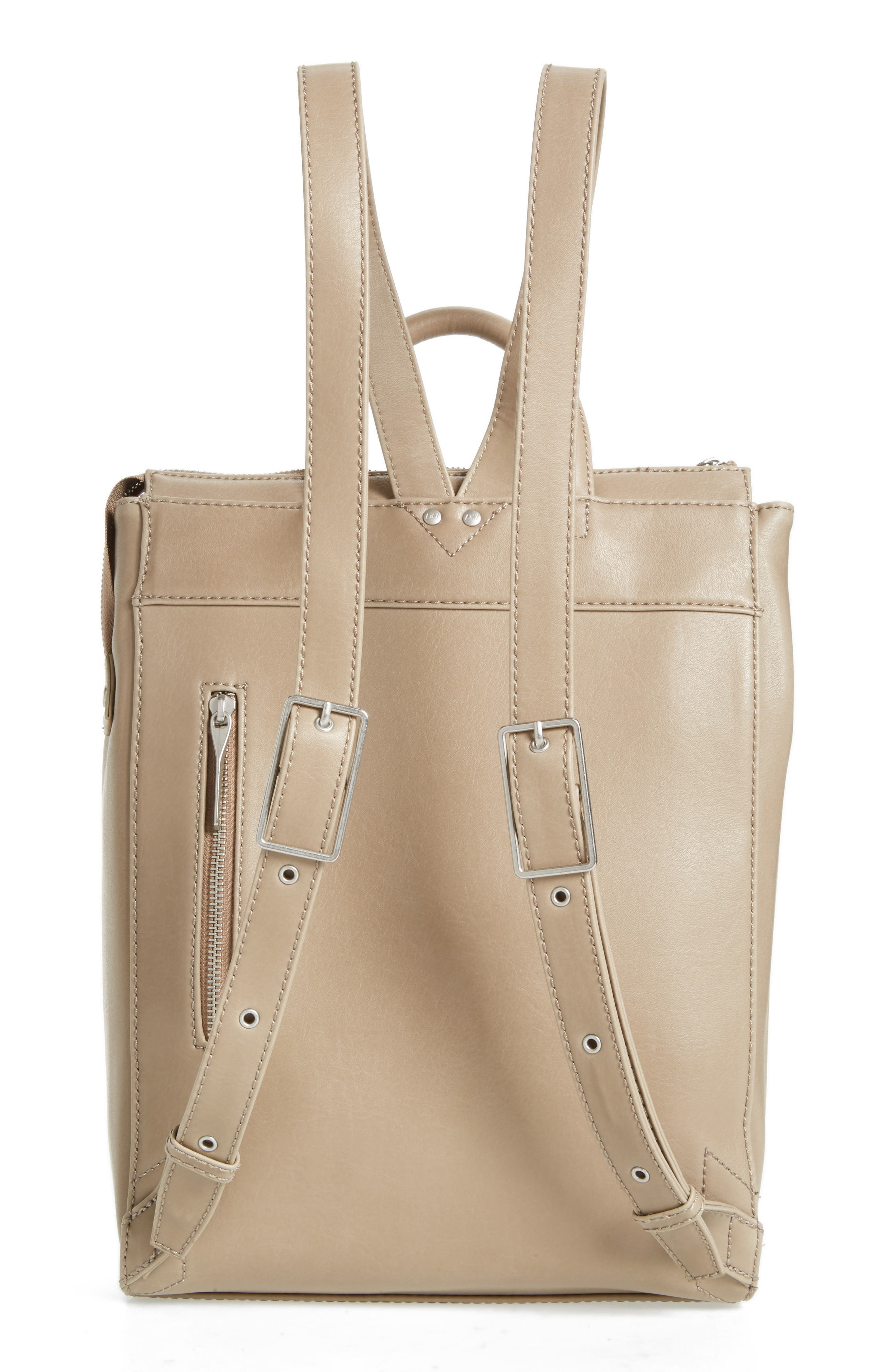 'Katherine' Faux Leather Backpack,                             Alternate thumbnail 15, color,