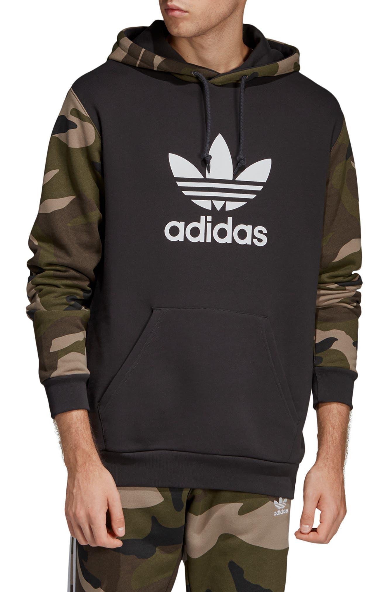 Camo Hooded Sweatshirt, Main, color, 005