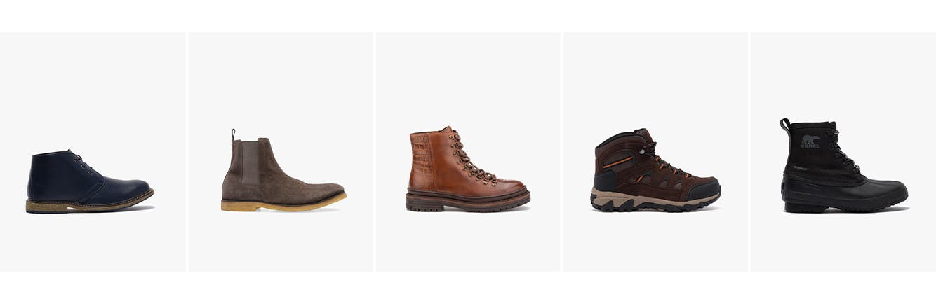 Men's boots: chukka, chelsea, combat & lace-up, hiking & outdoor, cold weather