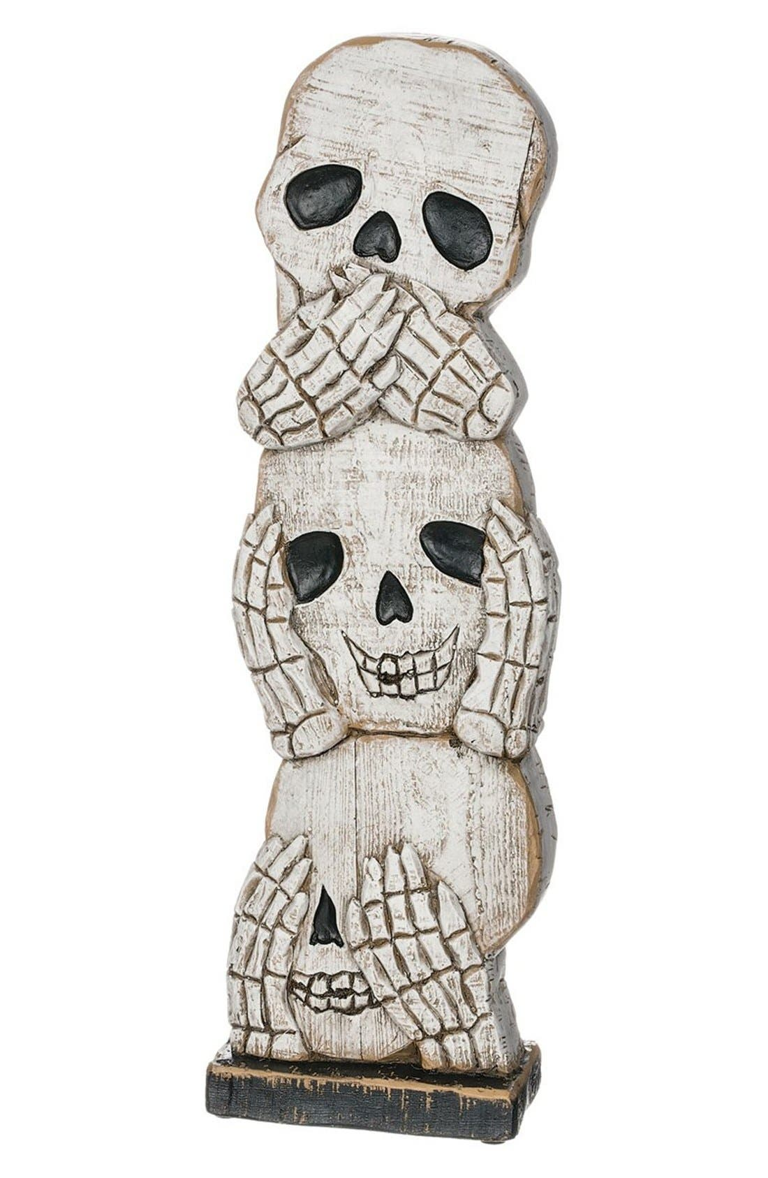 'See No Evil, Hear No Evil, Speak No Evil' Skull Decoration,                             Main thumbnail 1, color,                             100