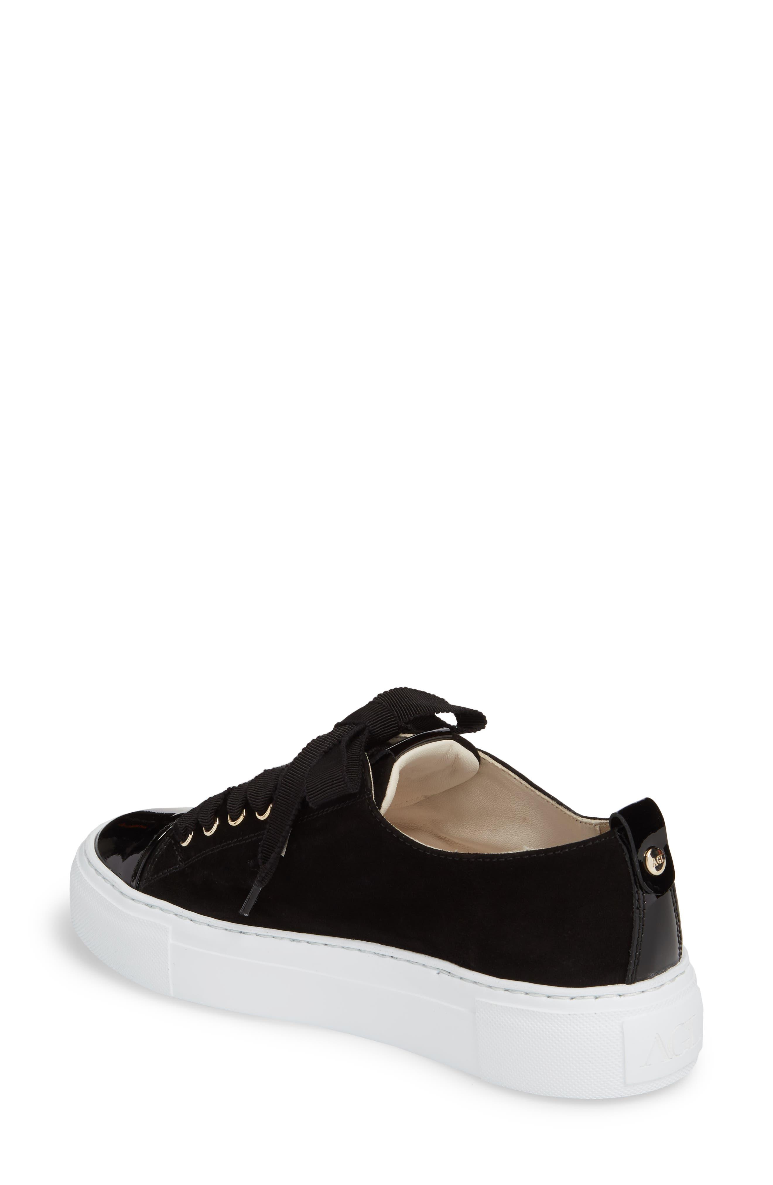 Cap Toe Platform Sneaker,                             Alternate thumbnail 2, color,                             001