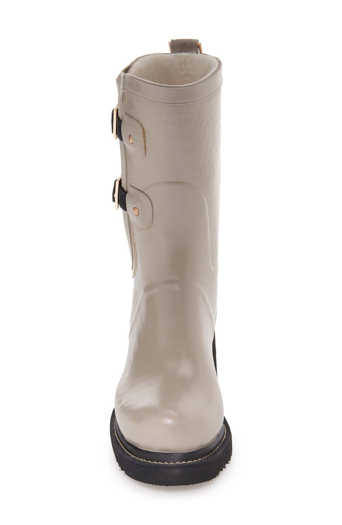 Waterproof Buckle Detail Snow/Rain Boot,                             Alternate thumbnail 6, color,