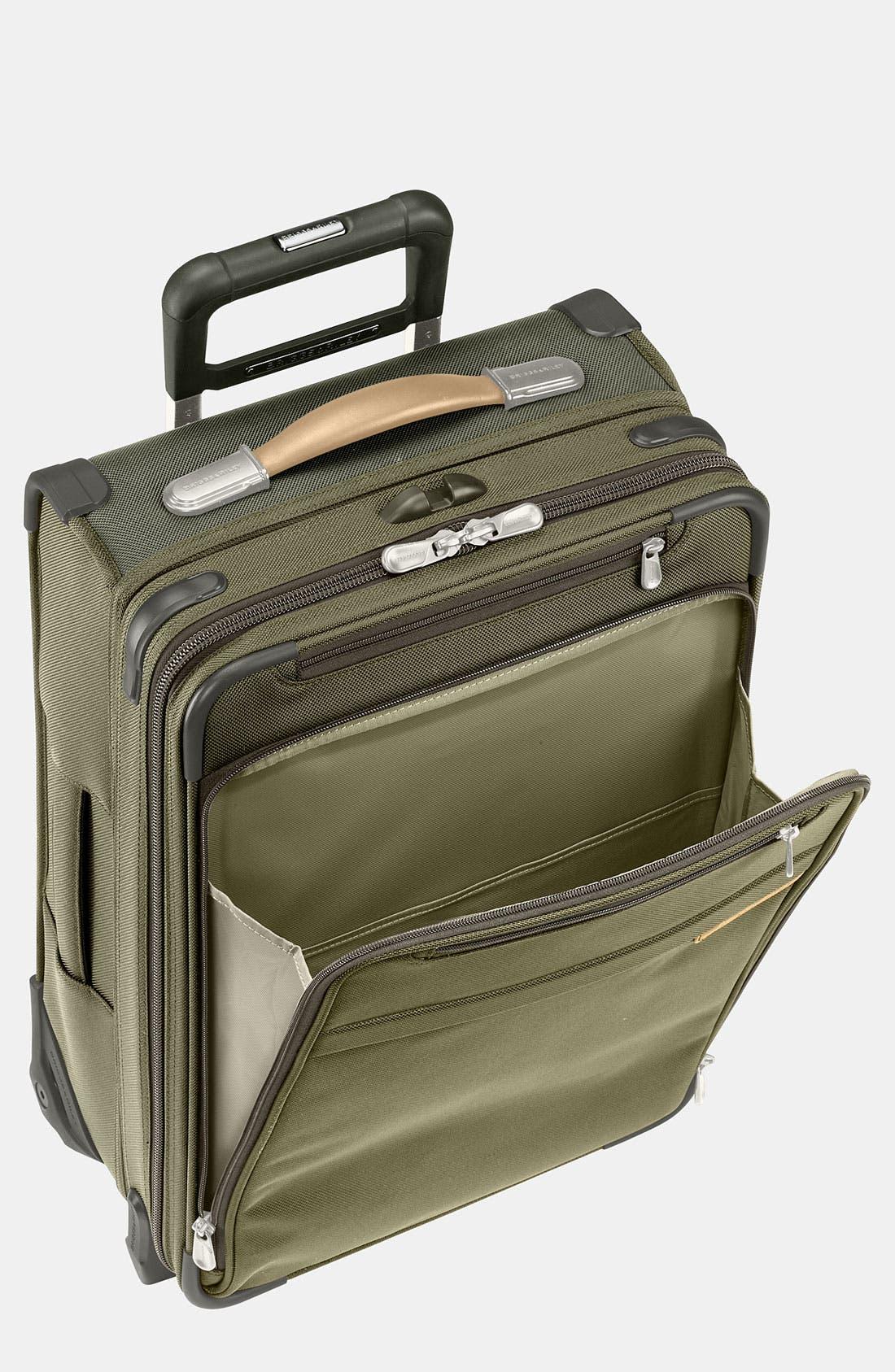 'Baseline - Commuter' Rolling Carry-On,                         Main,                         color, OLIVE
