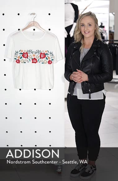 Floral Embroidered Tee, sales video thumbnail