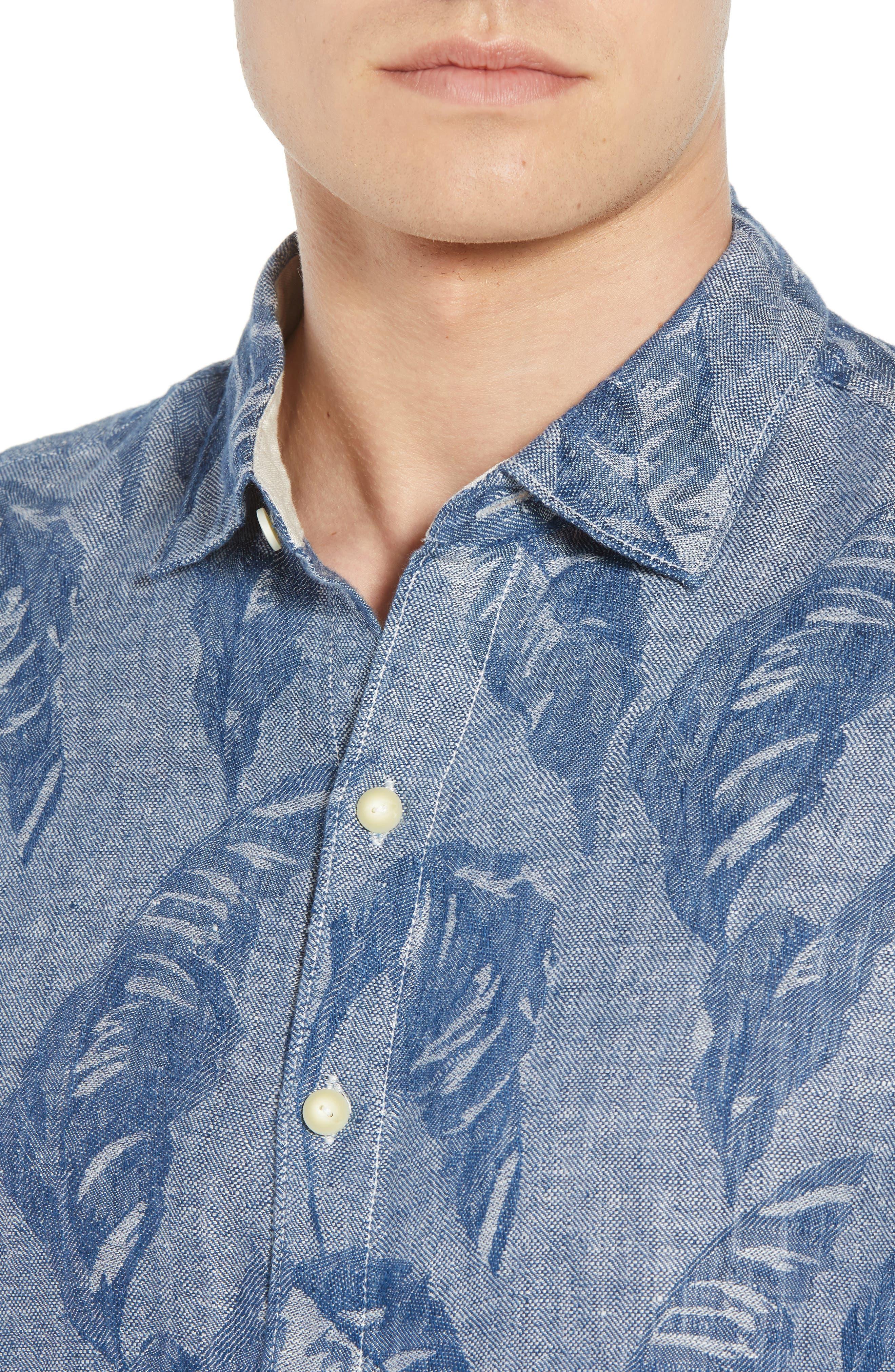 Help Me Fronda Linen Camp Shirt,                             Alternate thumbnail 4, color,                             401