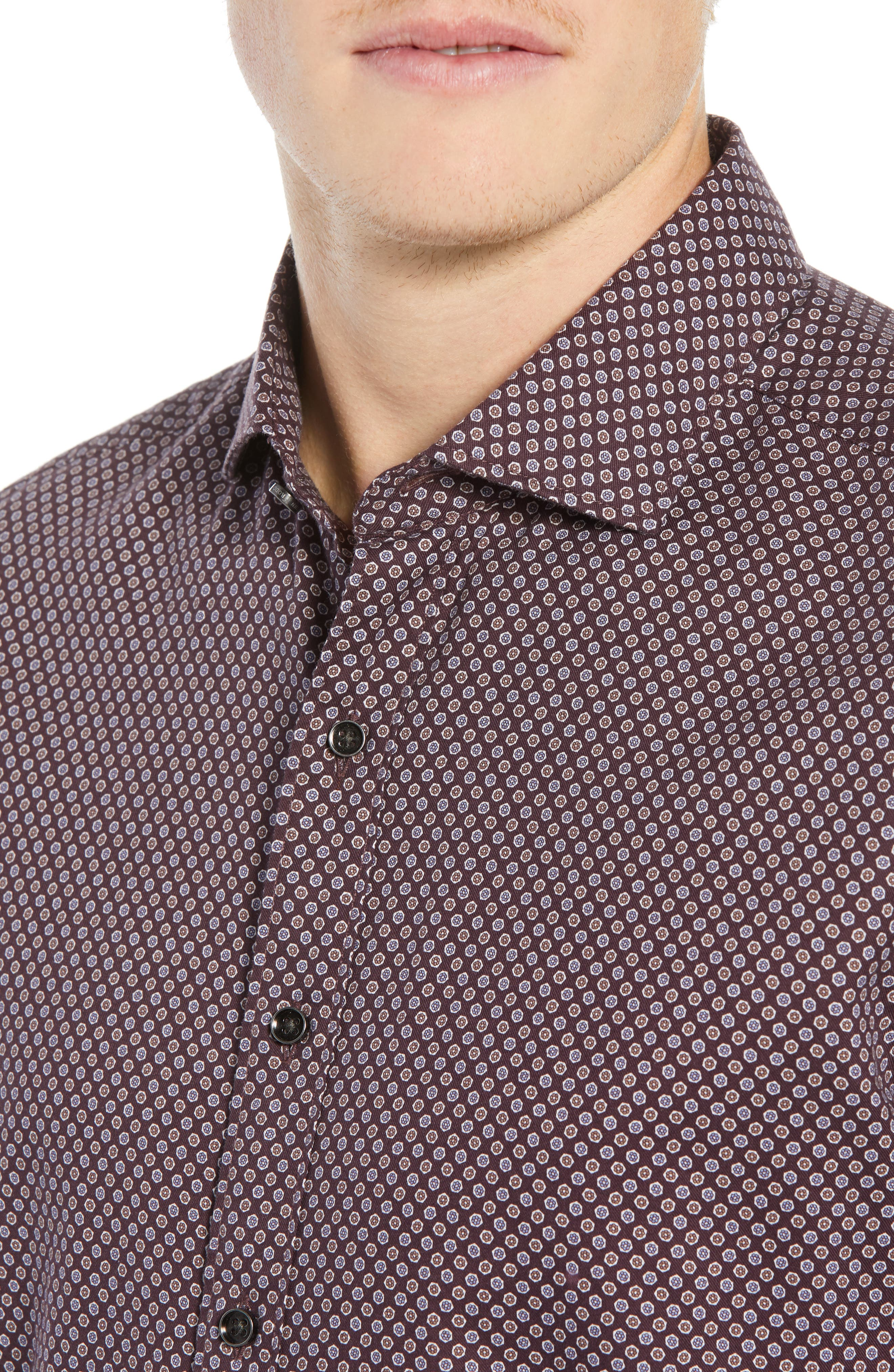 Marsden Bay Regular Fit Sport Shirt,                             Alternate thumbnail 2, color,                             BORDEAUX