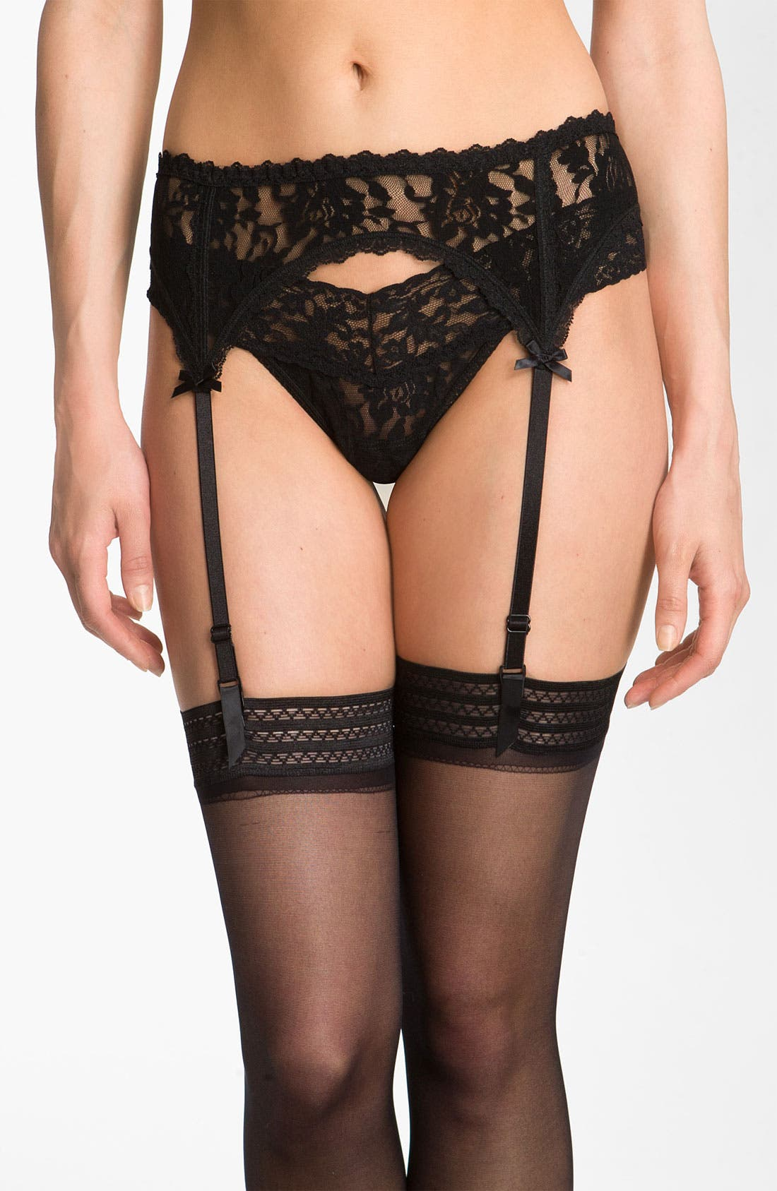 Lace Garter Belt,                             Main thumbnail 1, color,                             BLACK