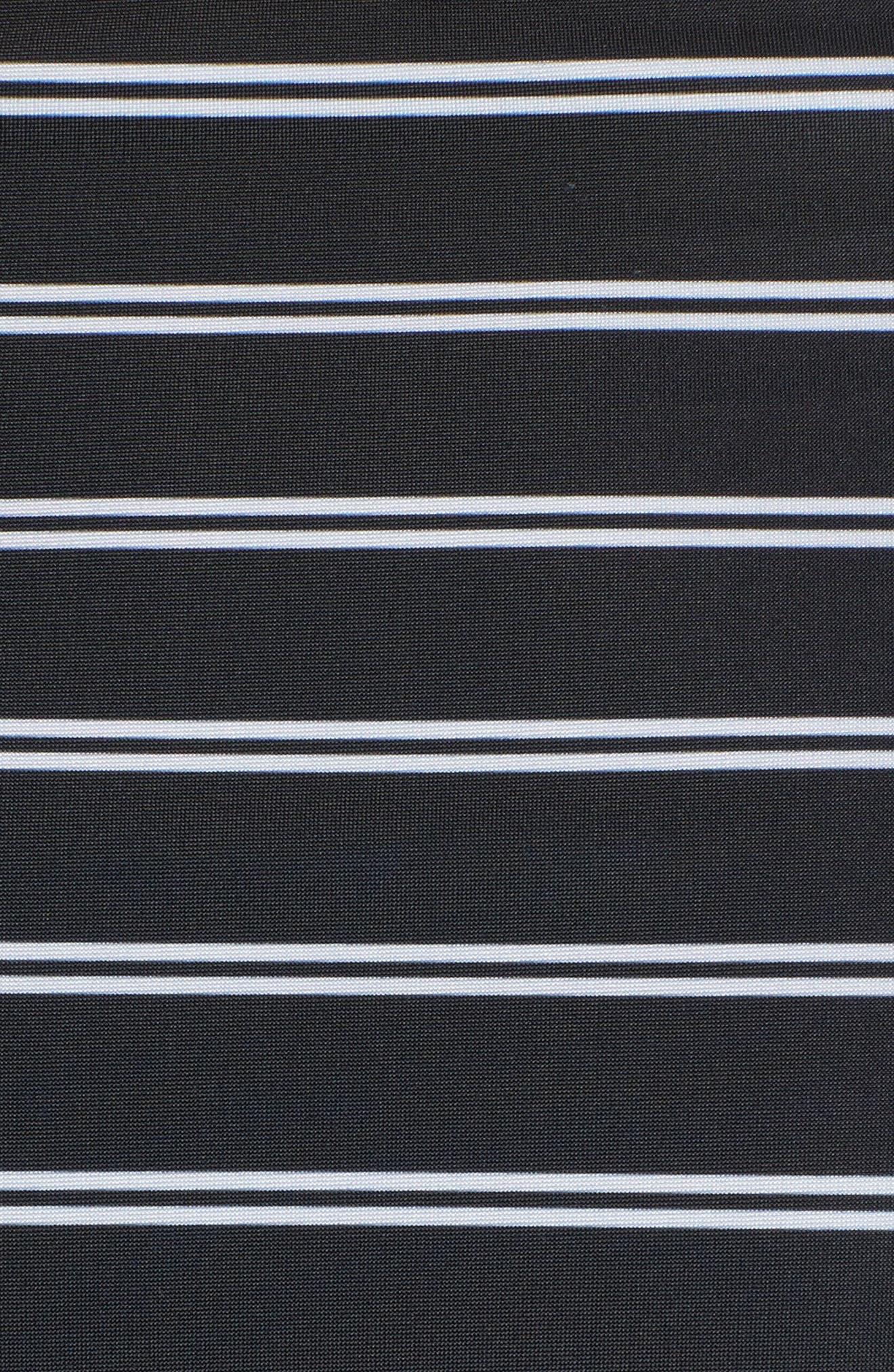 Stripe High Waist Bikini Bottoms,                             Alternate thumbnail 5, color,                             001