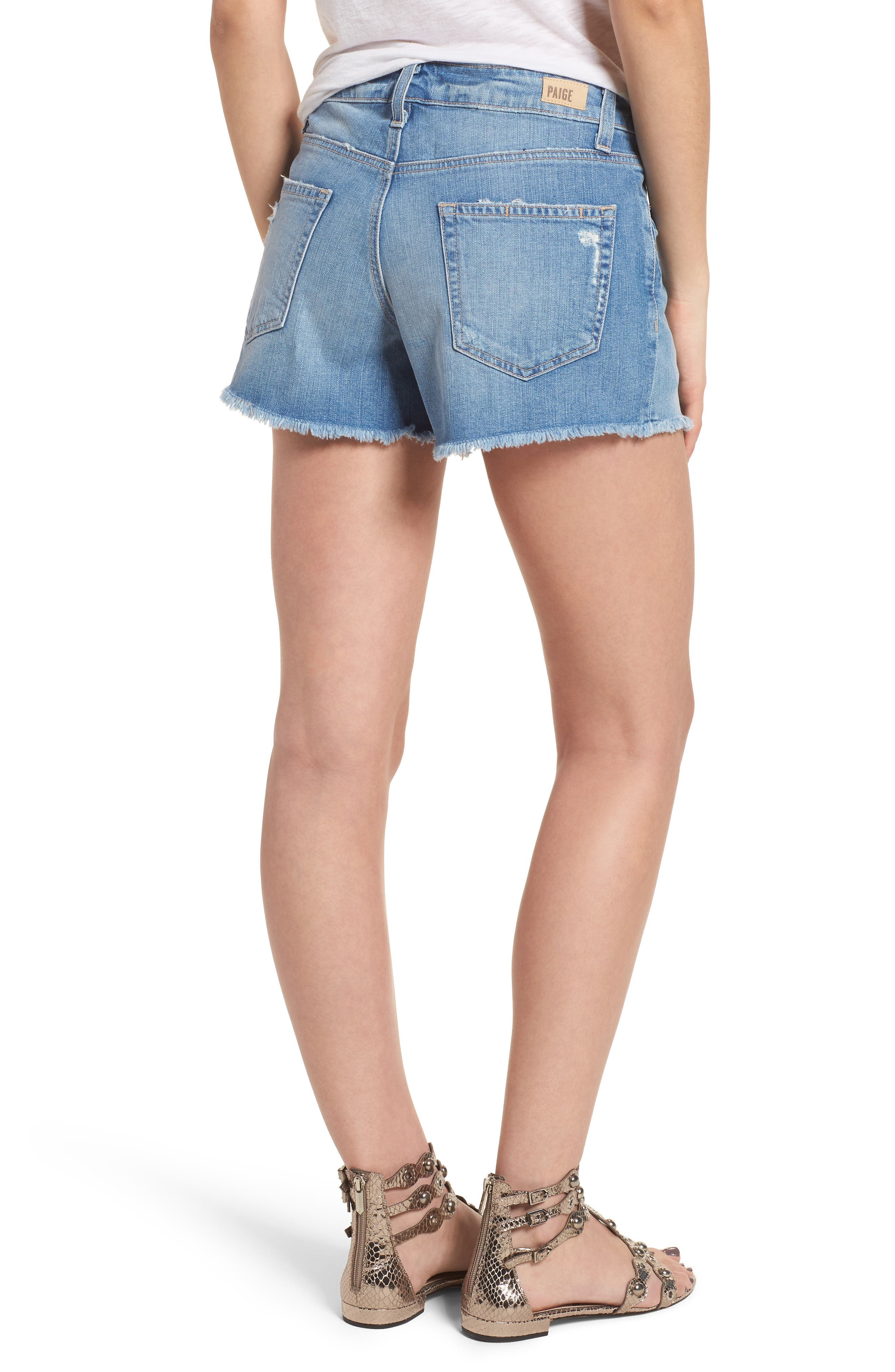 Emmitt High Waist Cutoff Denim Shorts,                             Alternate thumbnail 2, color,                             JANIS DESTRUCTED