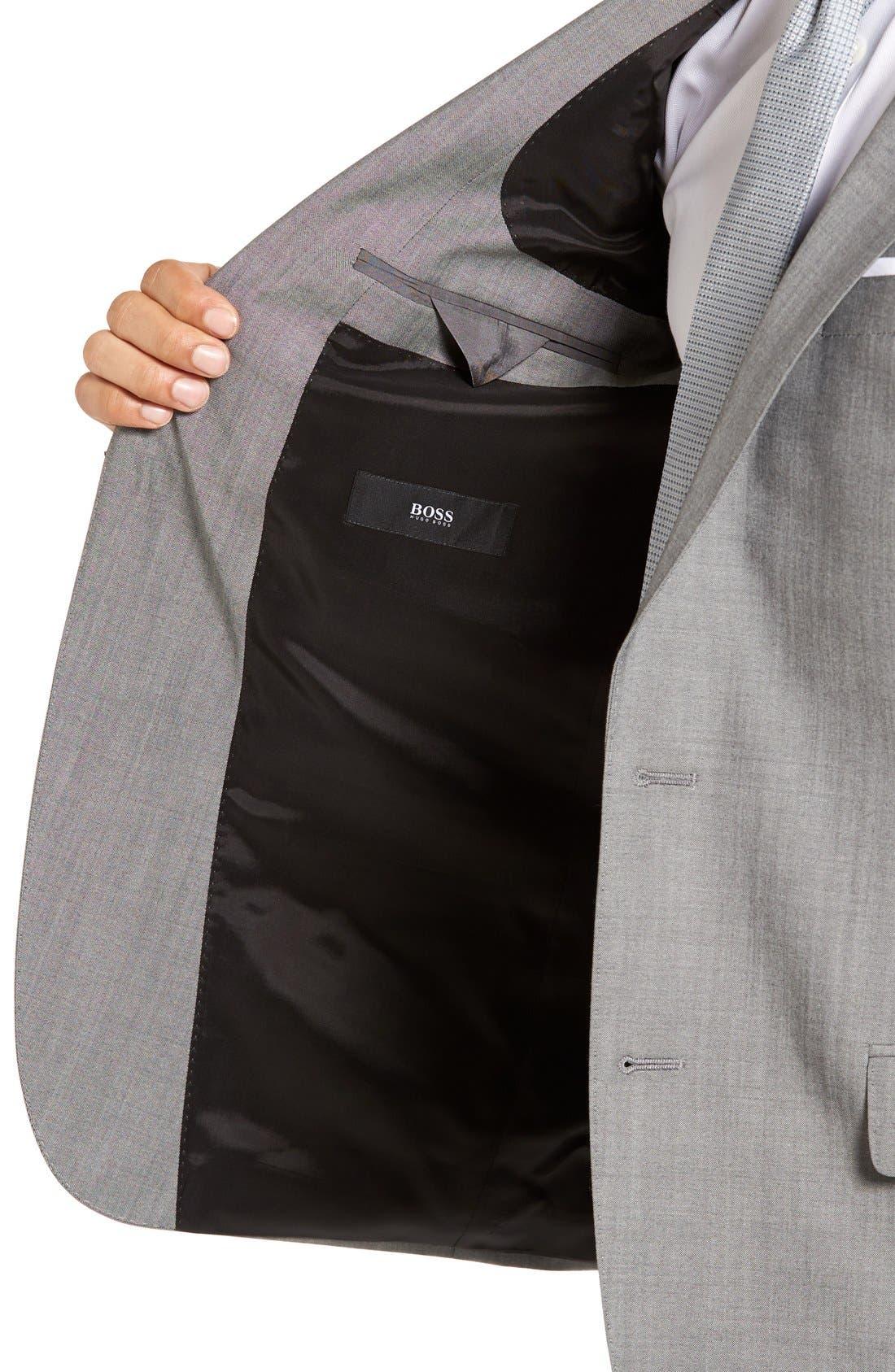 'Huge/Genius' Trim Fit Solid Wool Suit,                             Alternate thumbnail 7, color,                             PEARL GREY