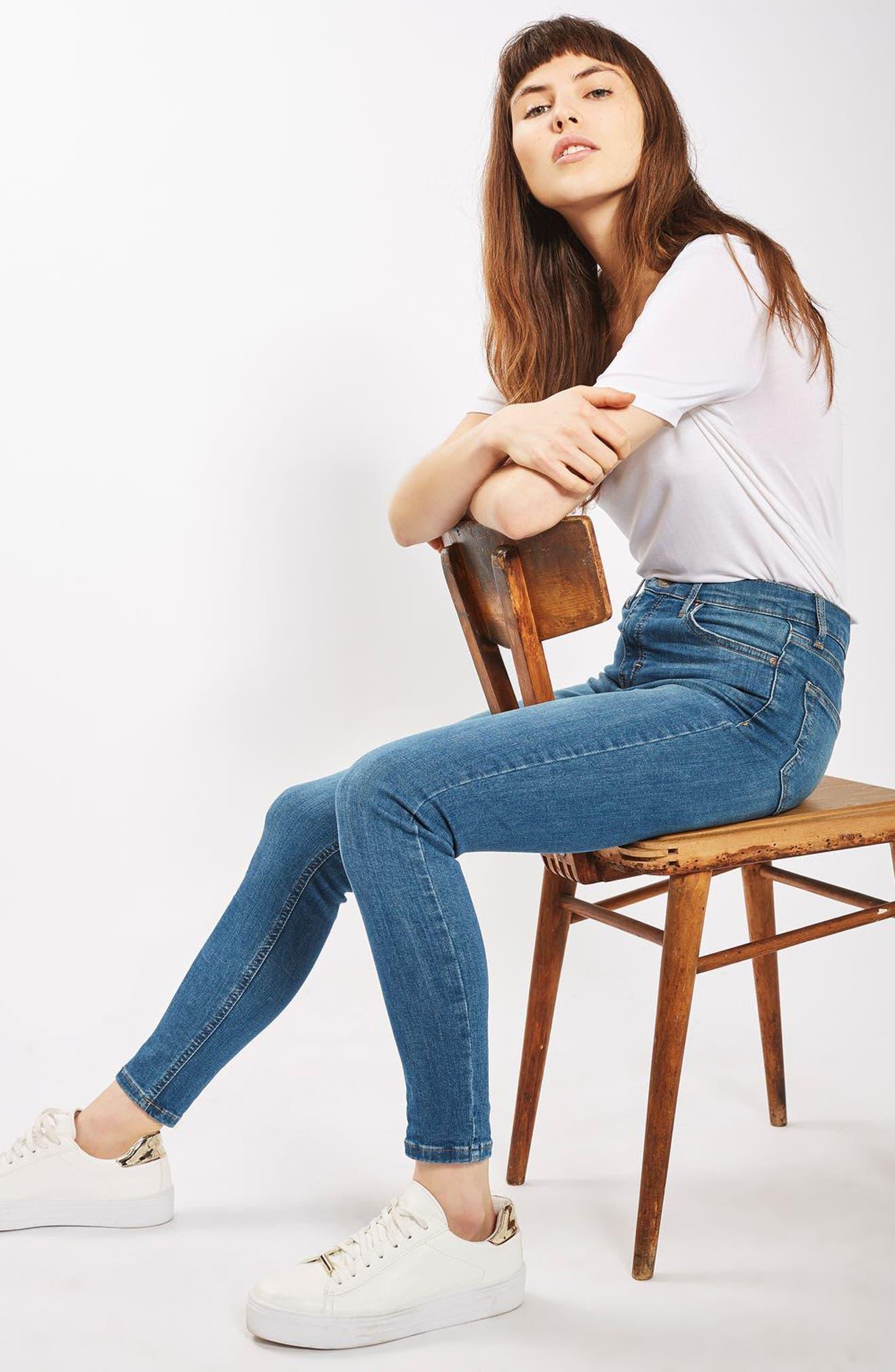 'Jamie' High Waist Ankle Skinny Jeans,                             Alternate thumbnail 8, color,                             400