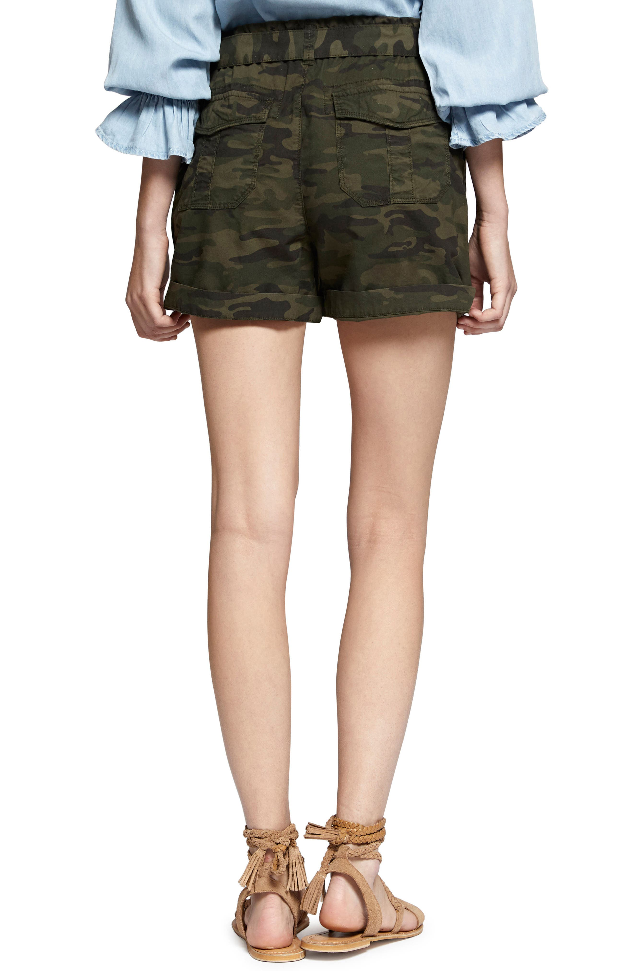 Daydreamer Stretch Cotton Camo Shorts,                             Alternate thumbnail 2, color,                             398