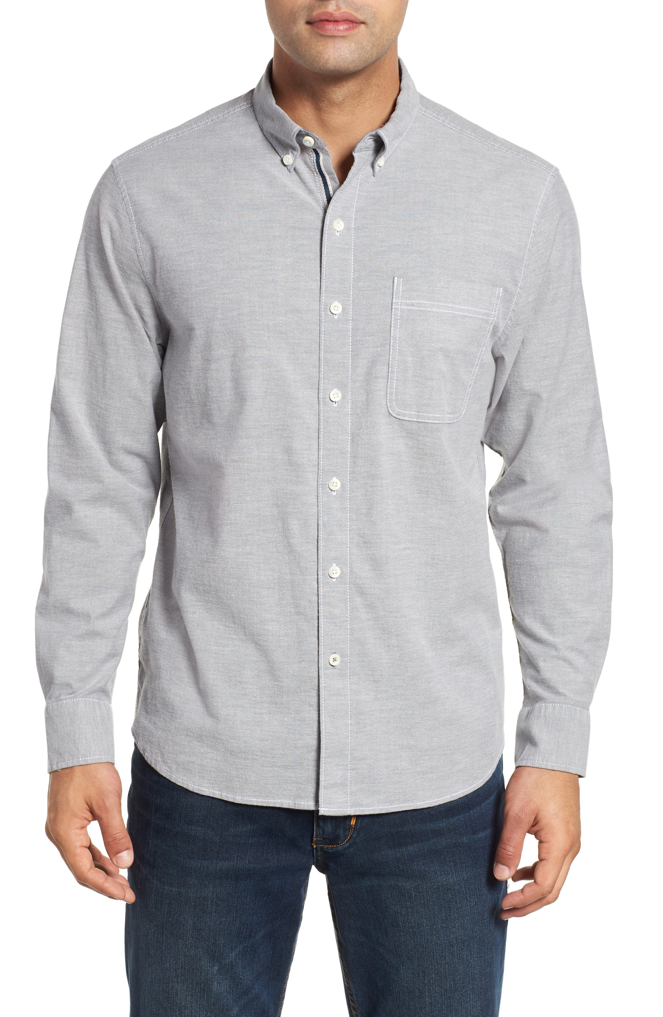 Oxford Isles Sport Shirt,                         Main,                         color, CAVE