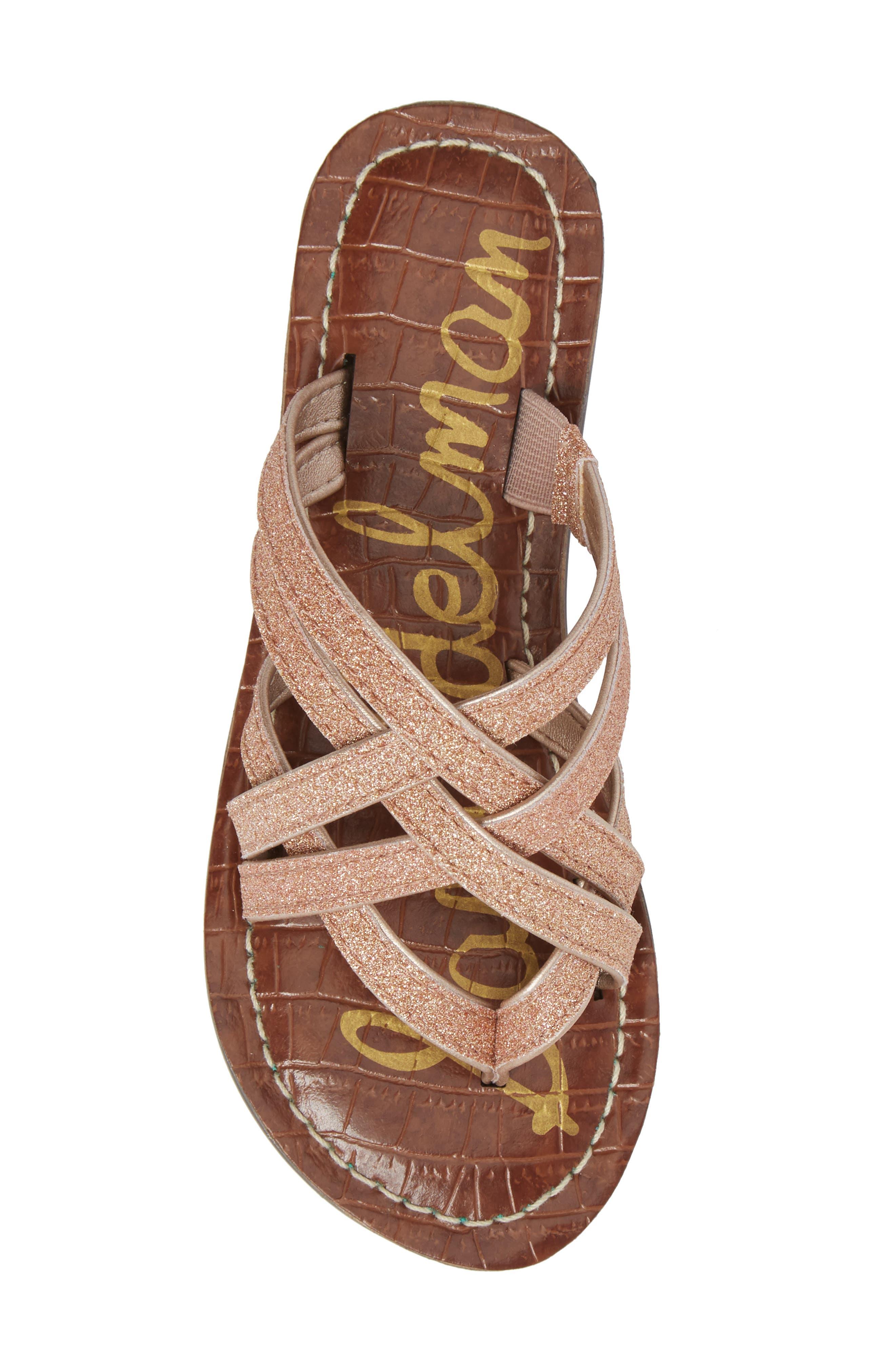 Georgette Glitter Flat Sandal,                             Alternate thumbnail 14, color,