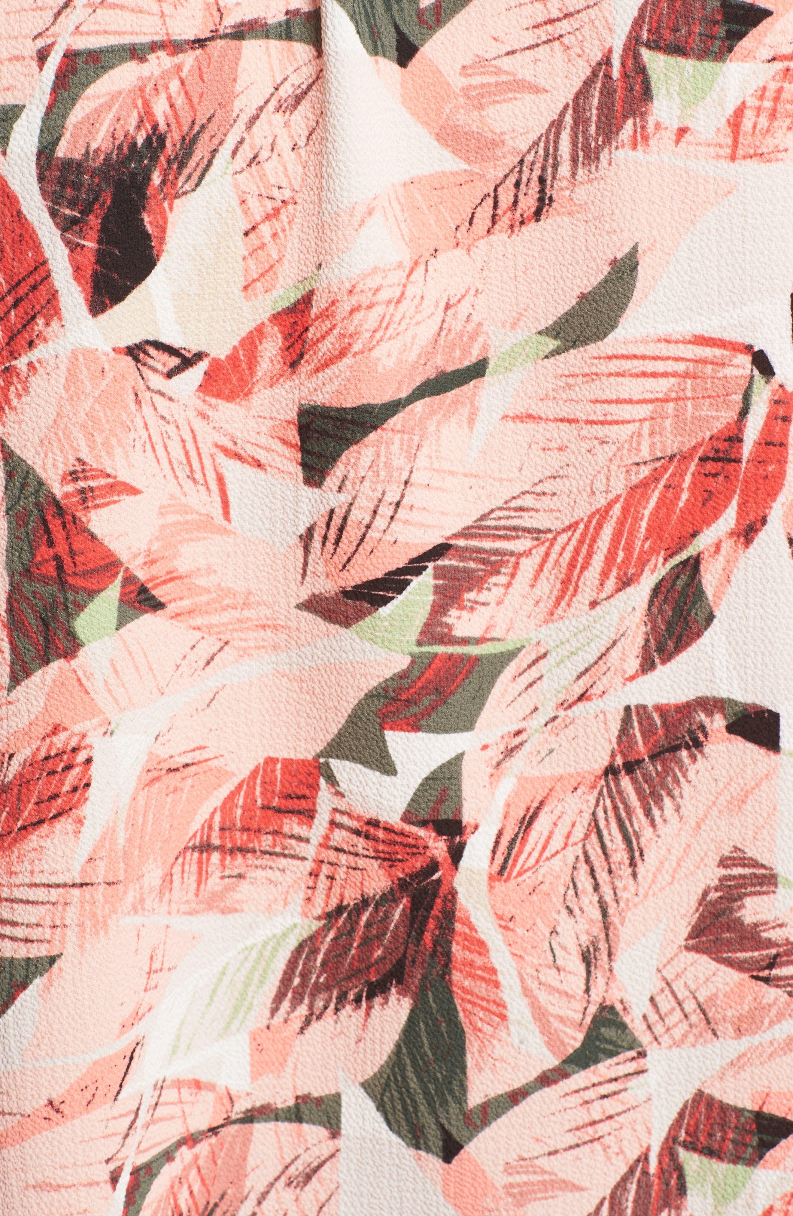 Whimsical Tropics Pintuck Top,                             Alternate thumbnail 6, color,                             650