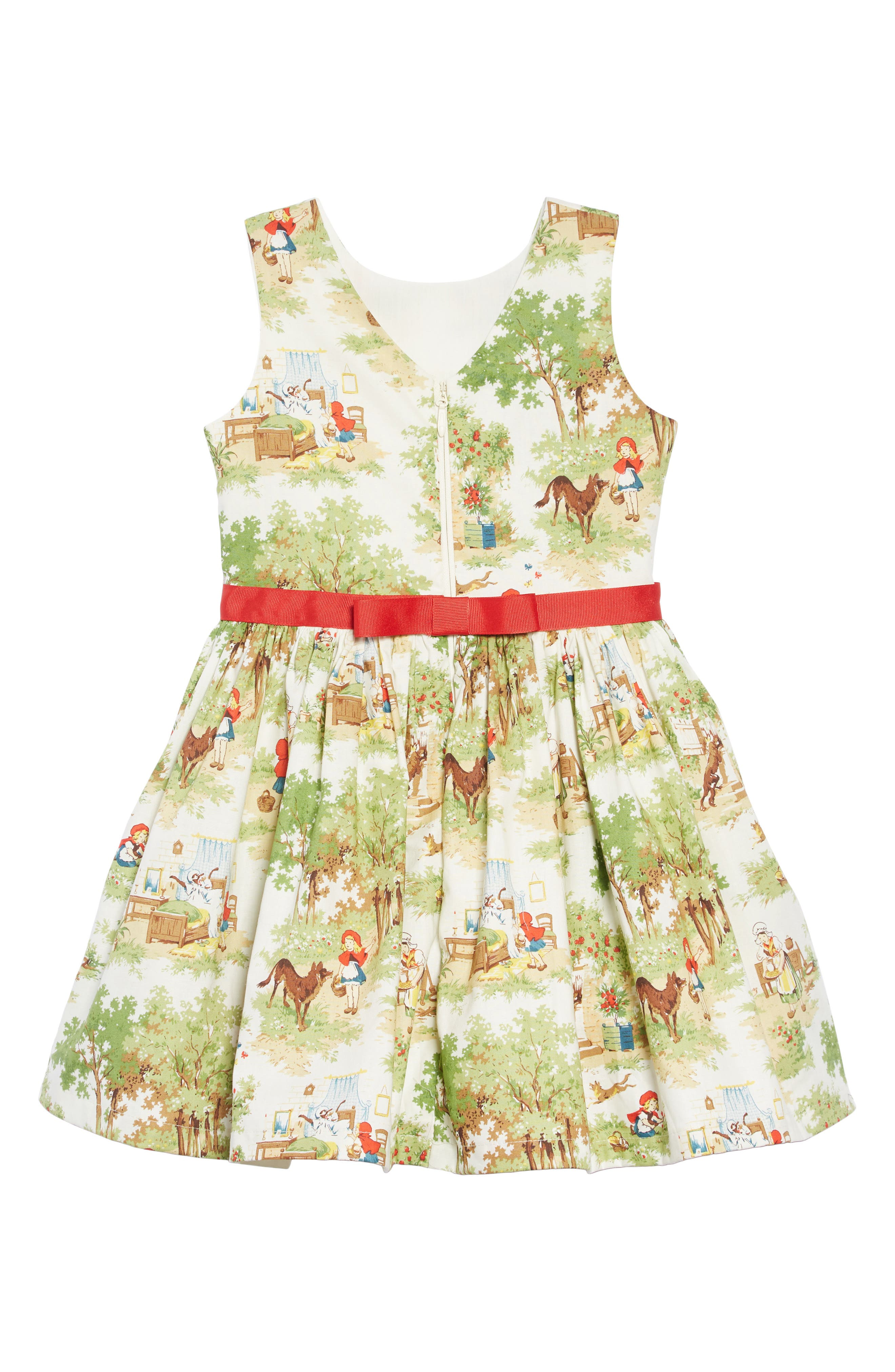 Fit & Flare Dress,                             Alternate thumbnail 2, color,                             IVORY