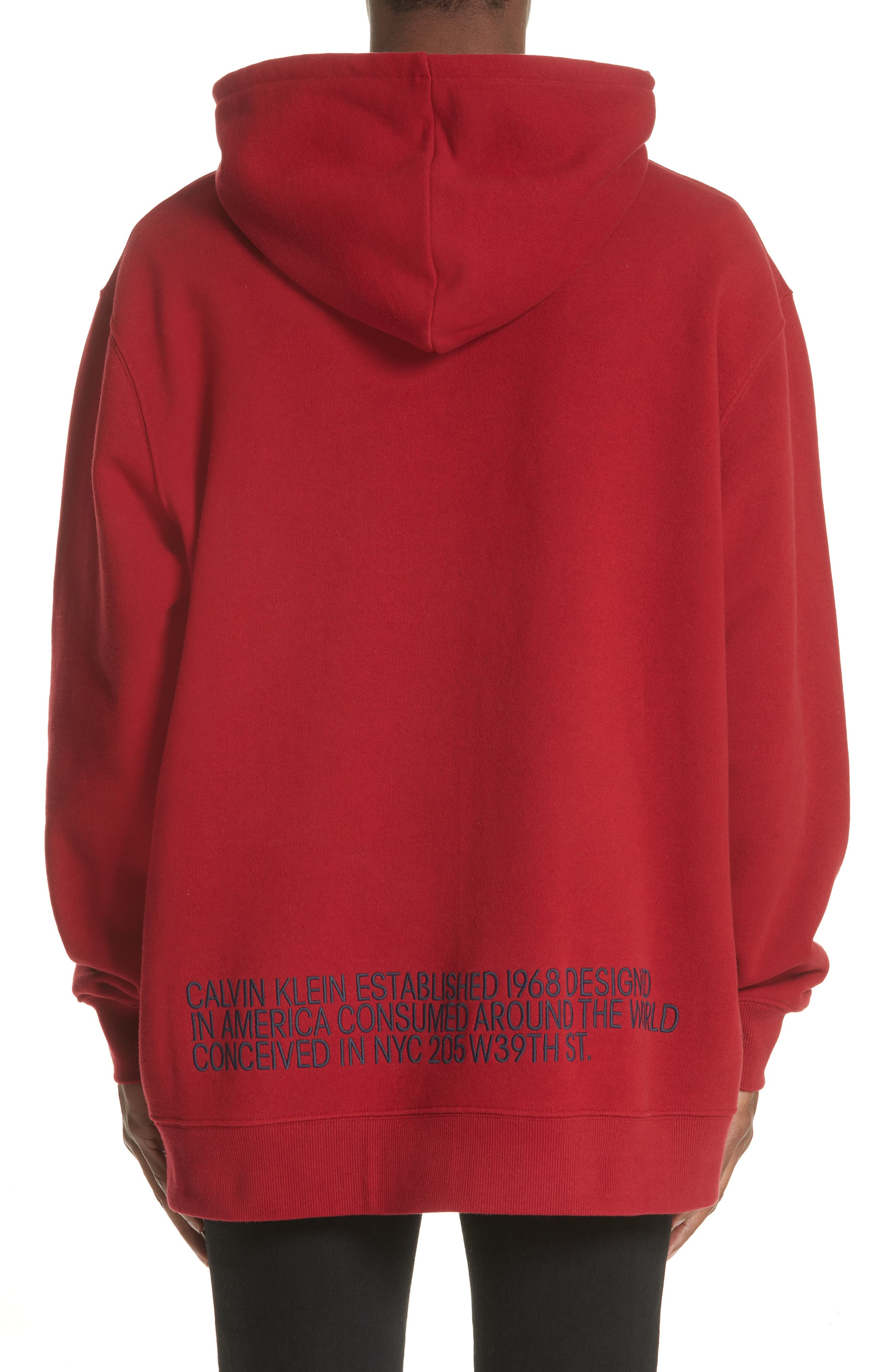 CALVIN KLEIN 205W39NYC,                             Oversize Hoodie,                             Alternate thumbnail 2, color,                             602