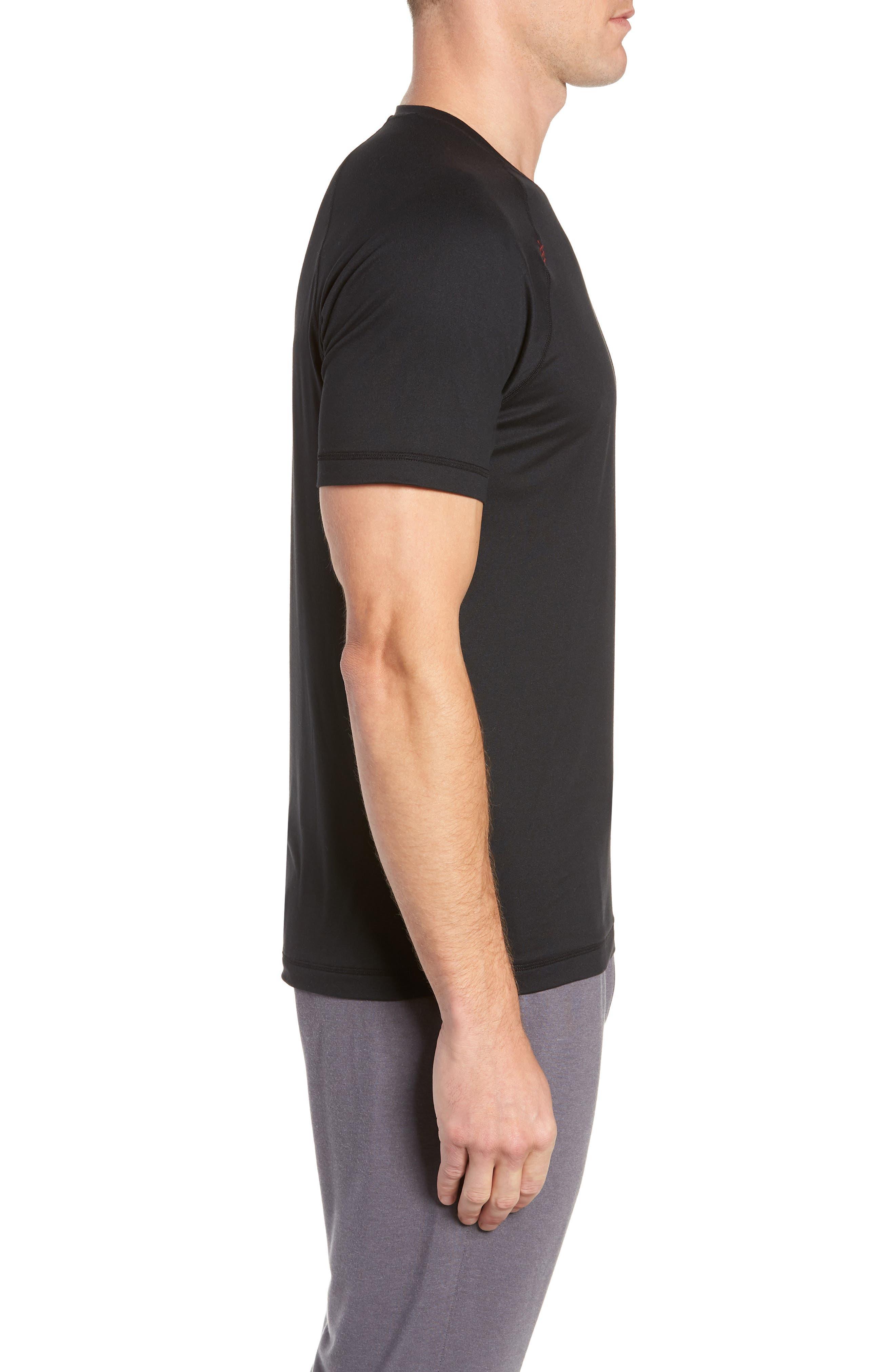 Reign Performance T-Shirt,                             Alternate thumbnail 3, color,                             BLACK