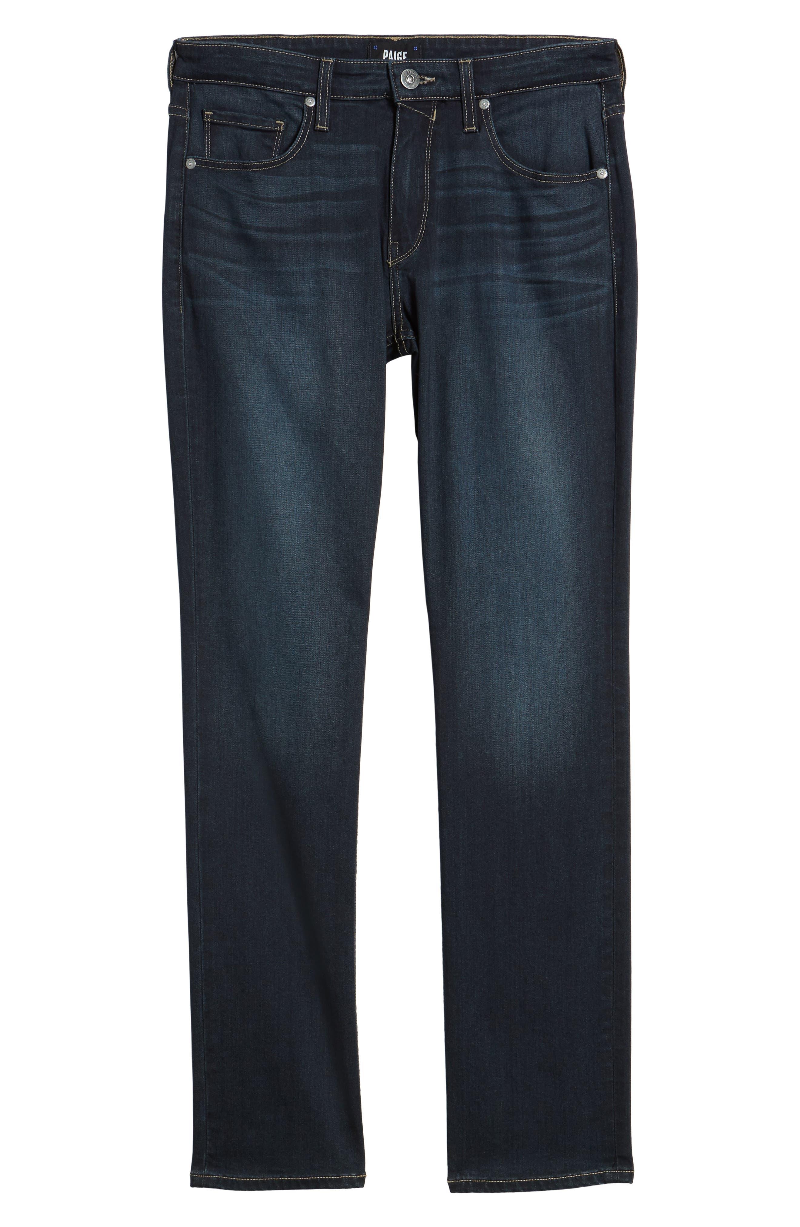 Transcend - Federal Slim Straight Leg Jeans,                             Alternate thumbnail 6, color,                             400