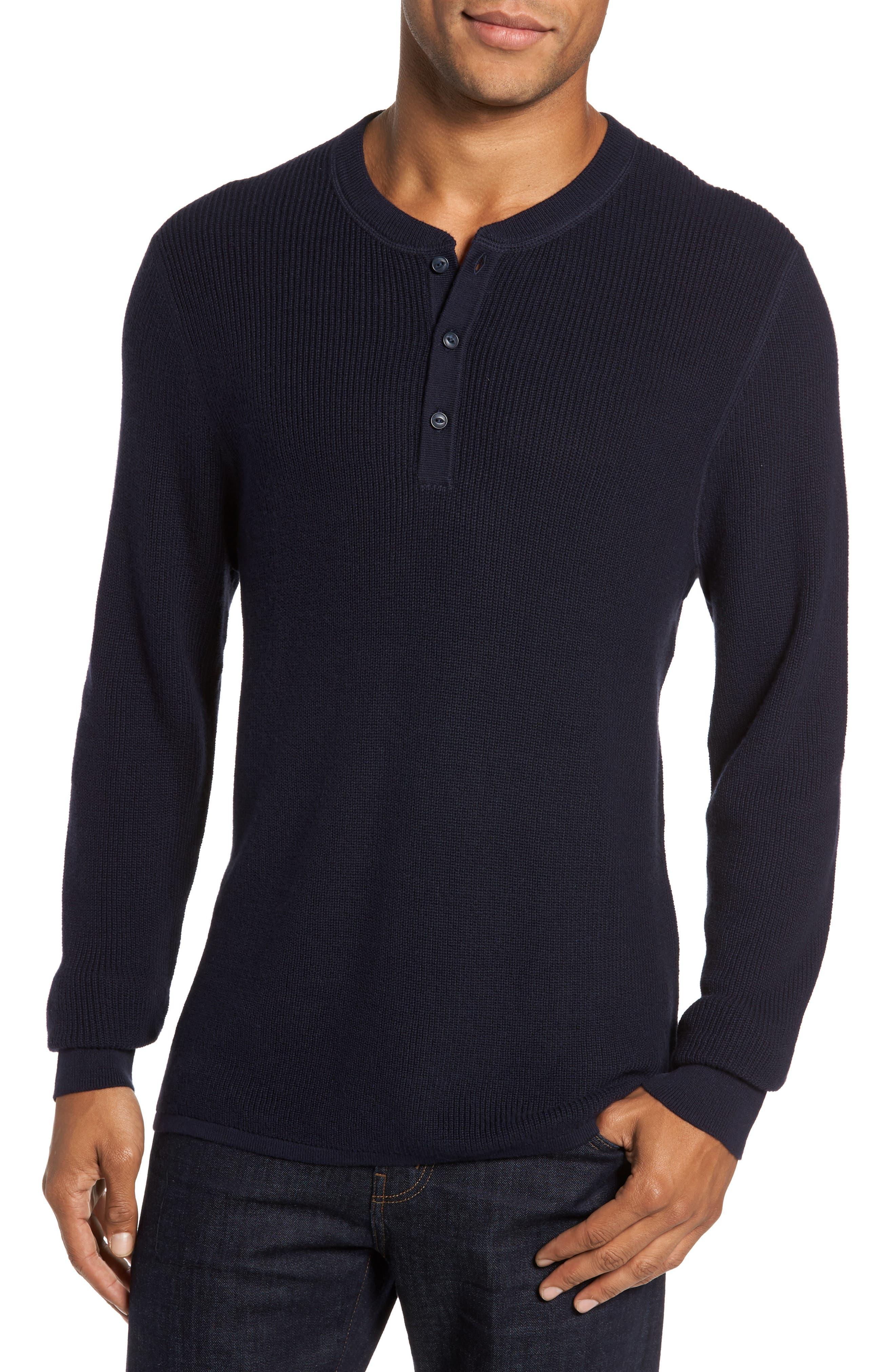 Cotton & Cashmere Henley Sweater,                             Main thumbnail 2, color,