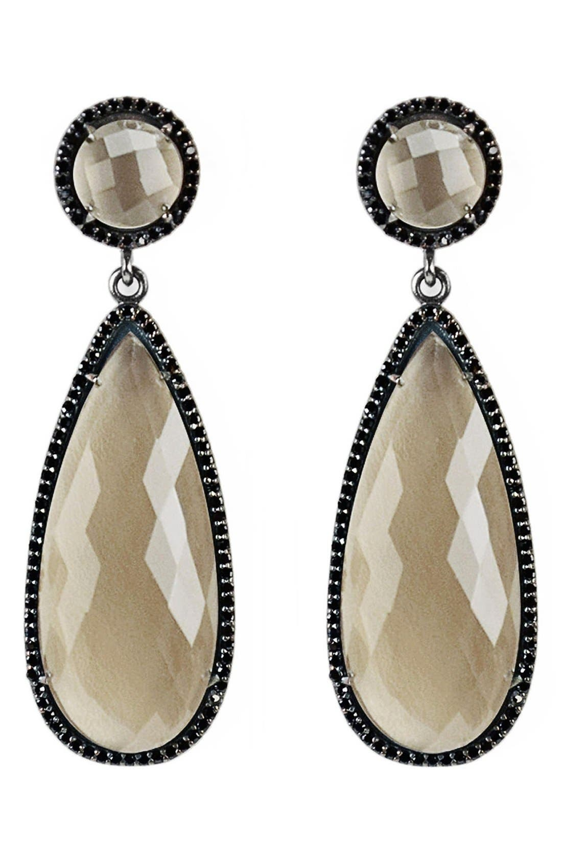 Semiprecious Stone Double Drop Earrings,                             Main thumbnail 1, color,