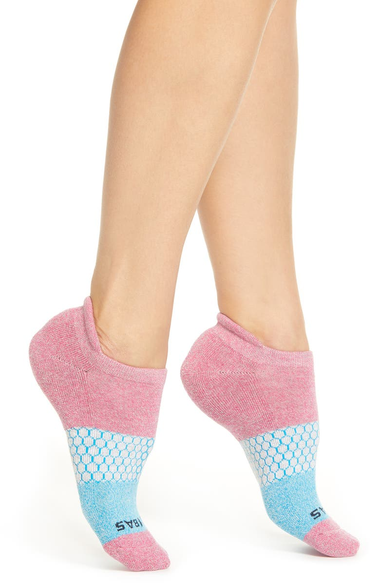 Colorblock Ankle Socks,                         Main,                         color, PINK/ AQUA